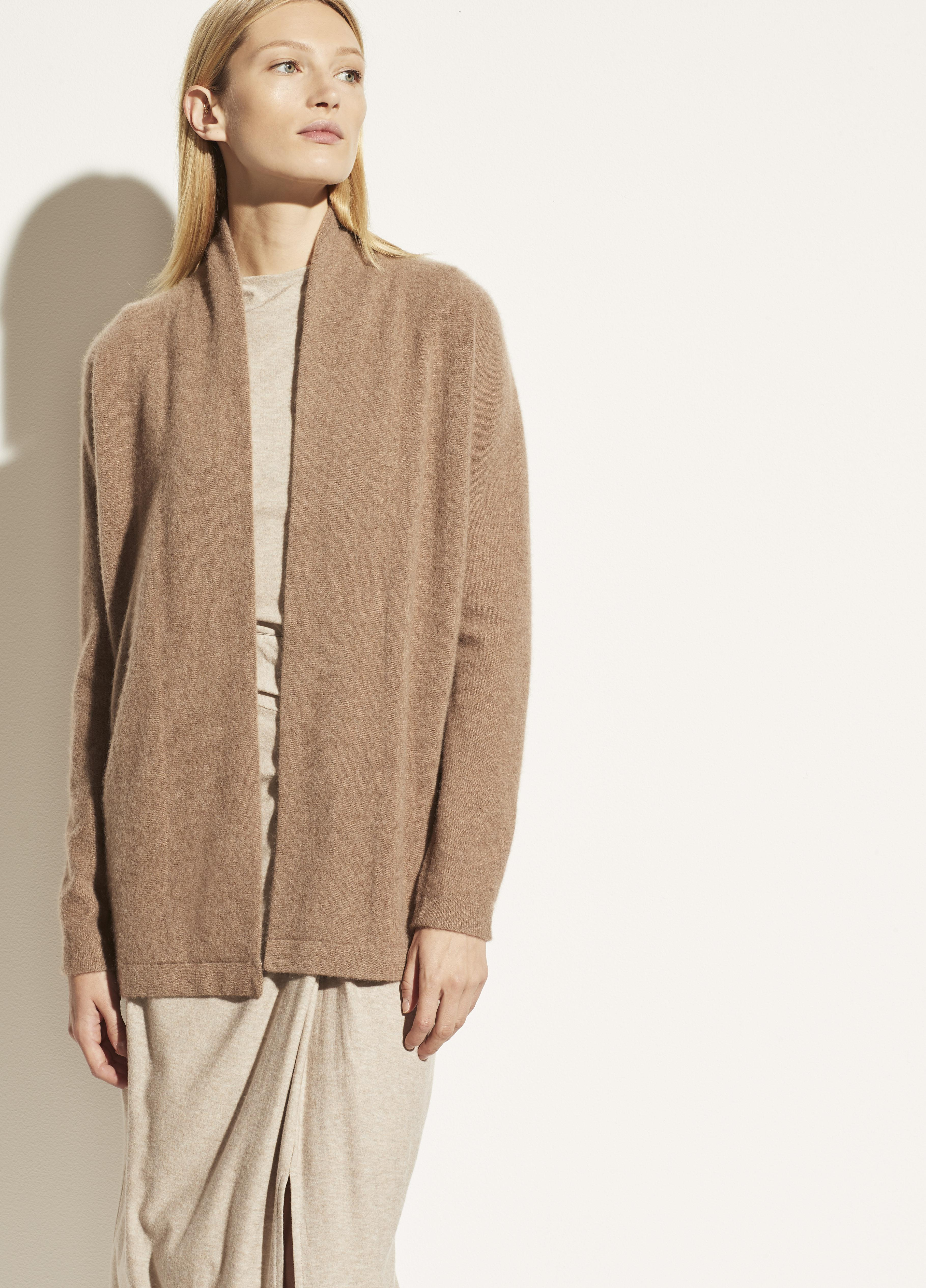 Boiled Cashmere Open Cardigan