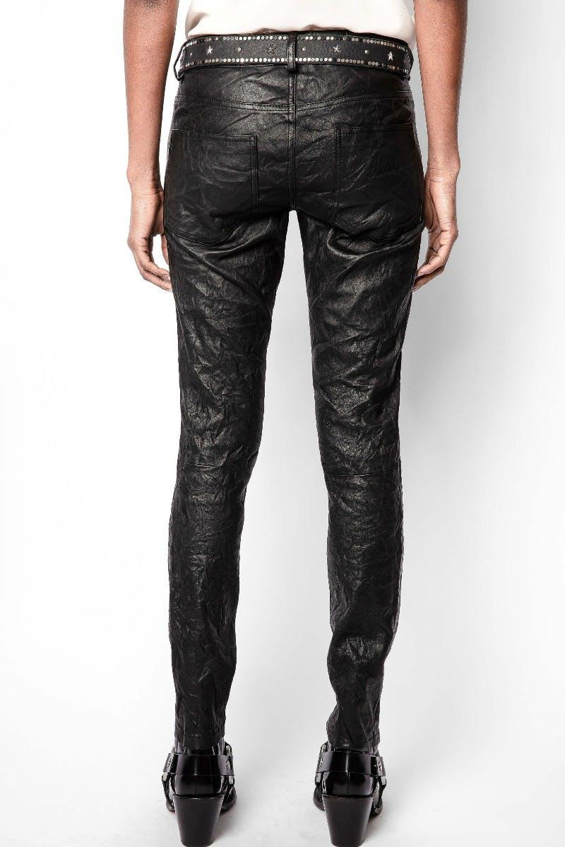 Phlame Crinkle Leather Pants 3