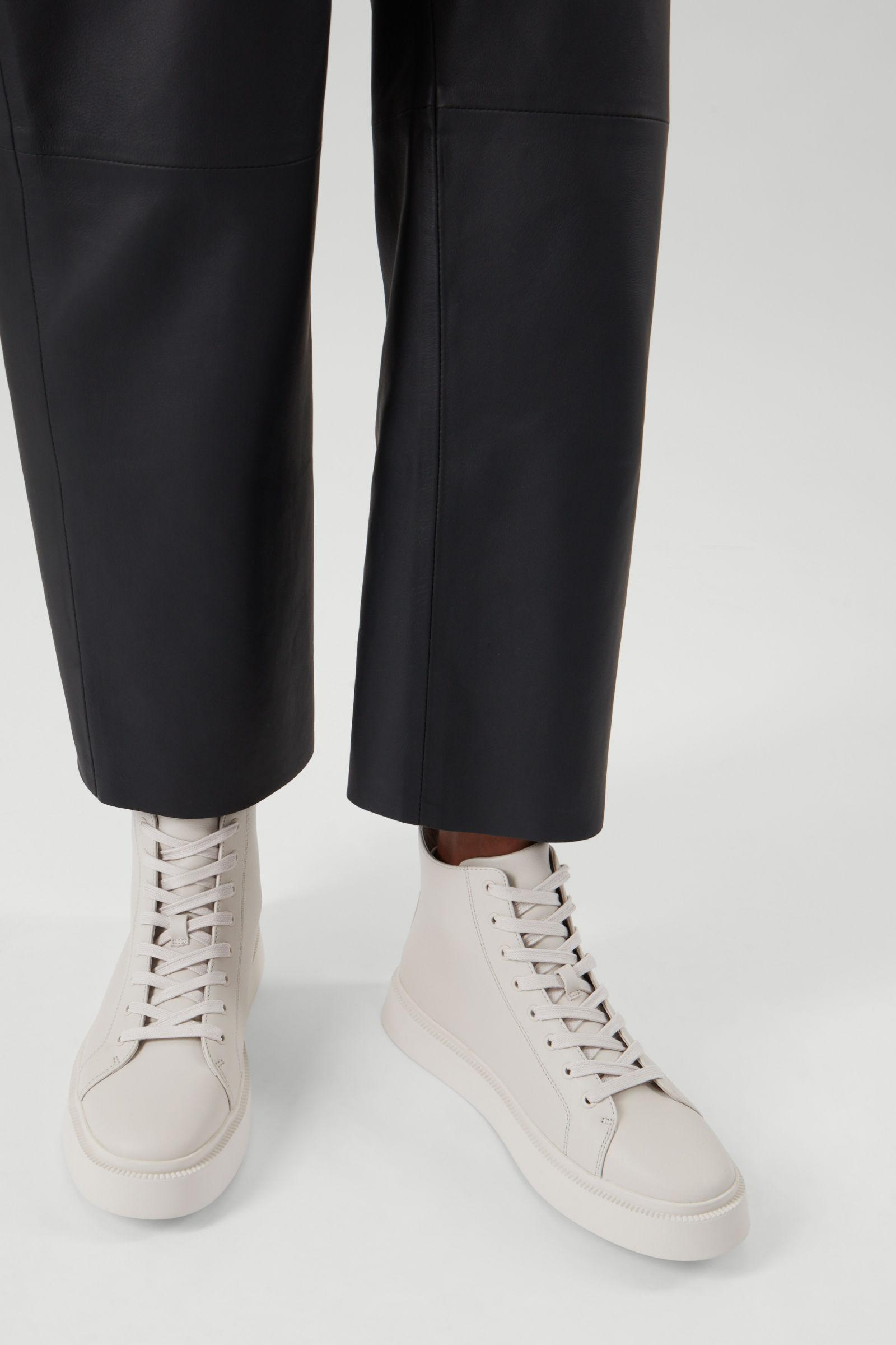 LEATHER HIGH TOP SNEAKERS 4
