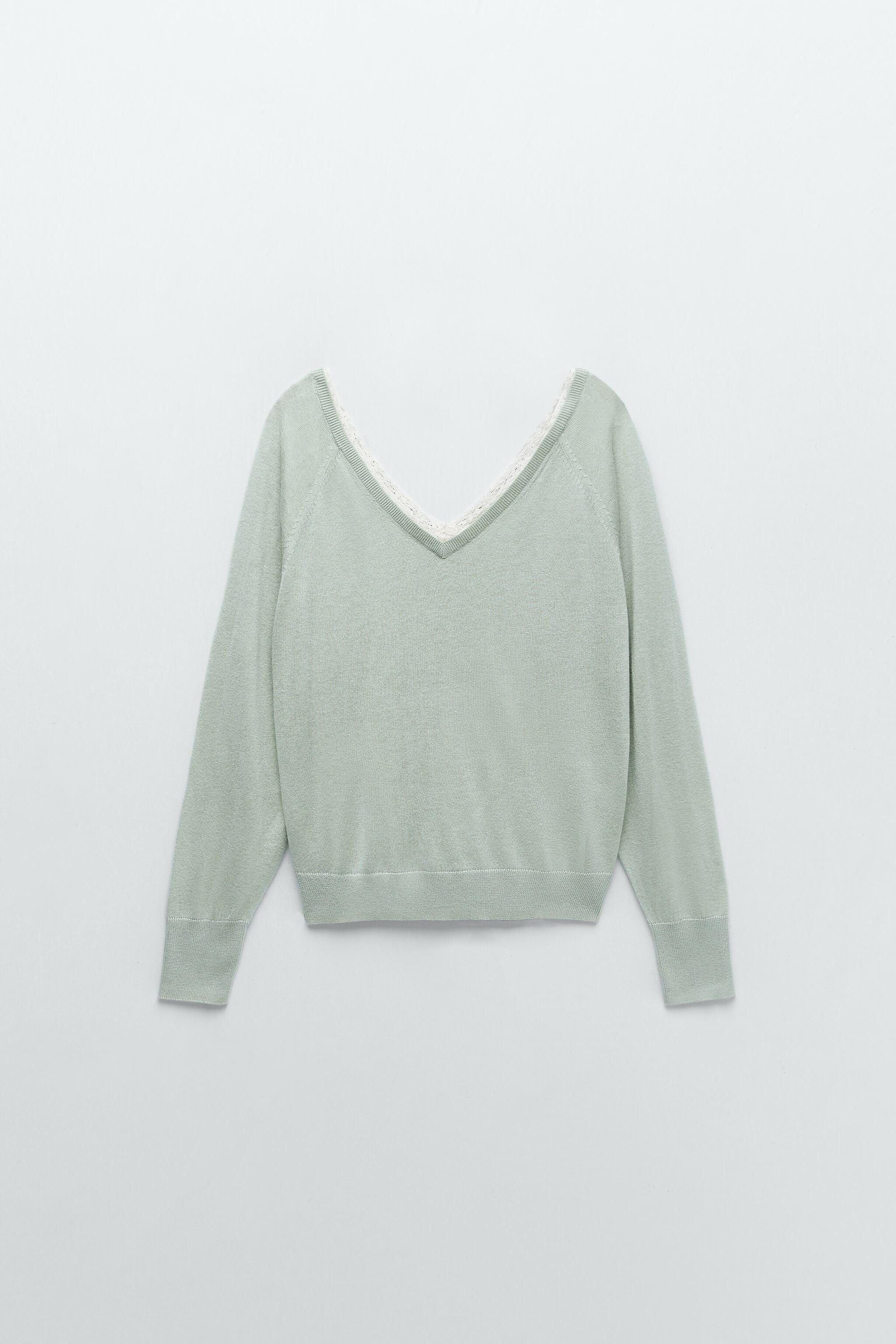 COMBINATION KNIT SWEATER 9