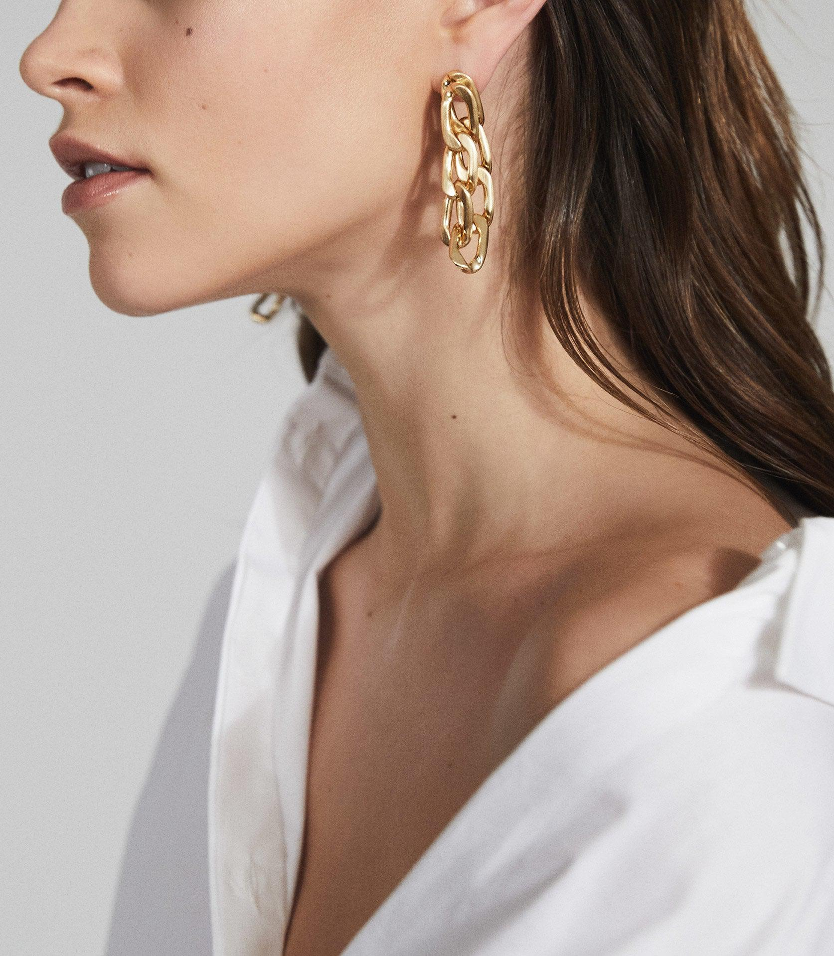 LEXI - BRUSHED PLATED GOLD EARRINGS 7