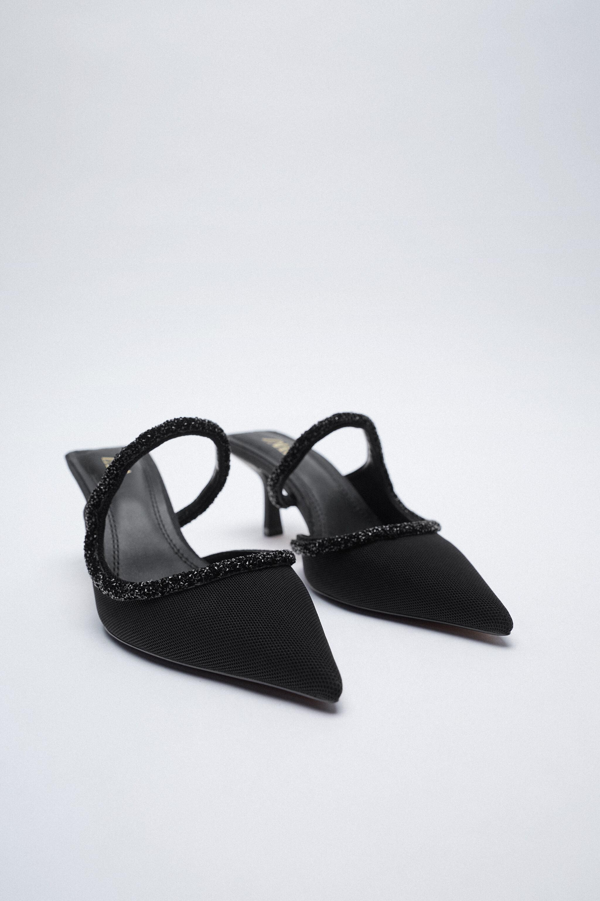 SPARKLY POINTED TOE HEELED SHOES 1