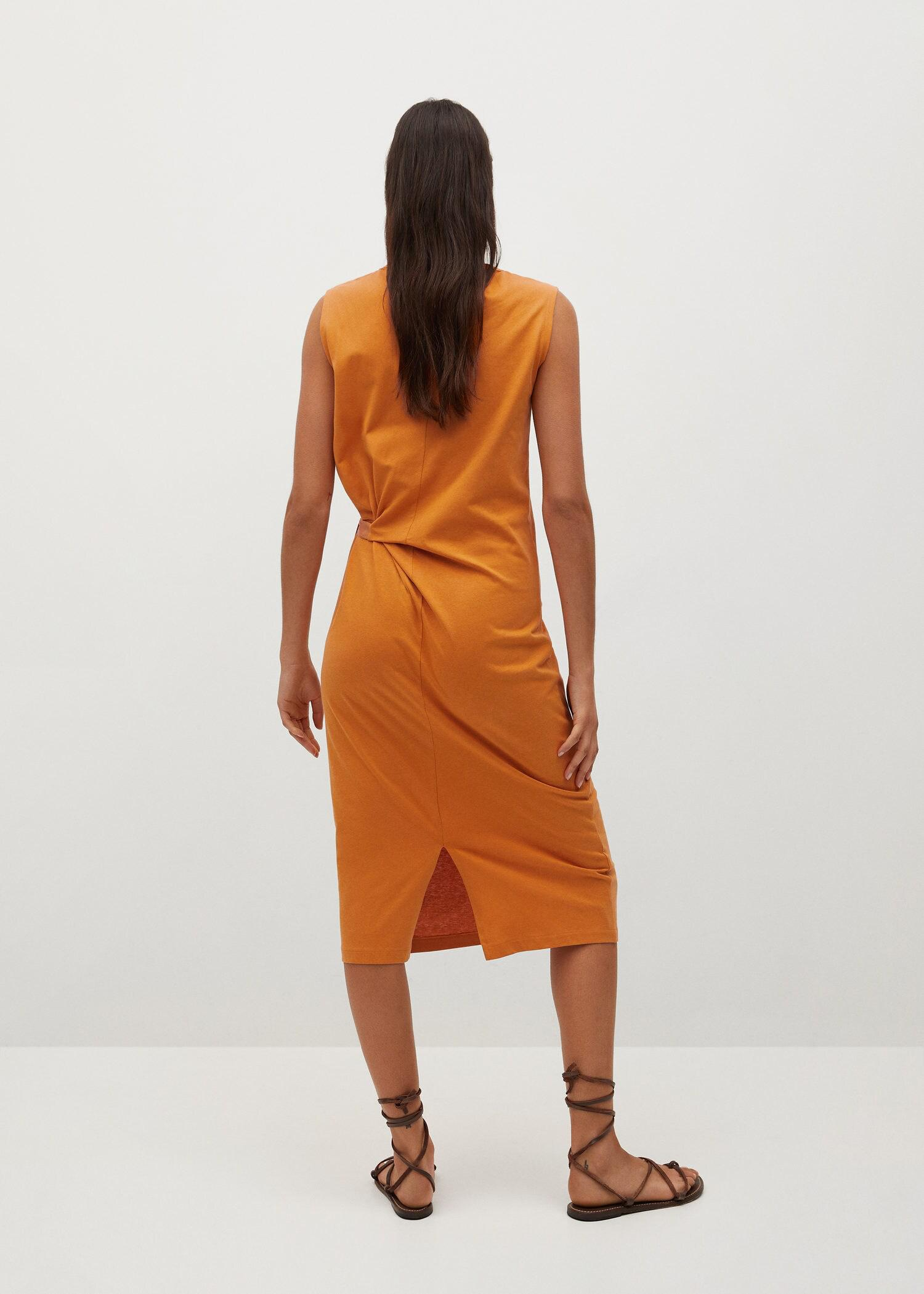 Knotted cotton dress 2
