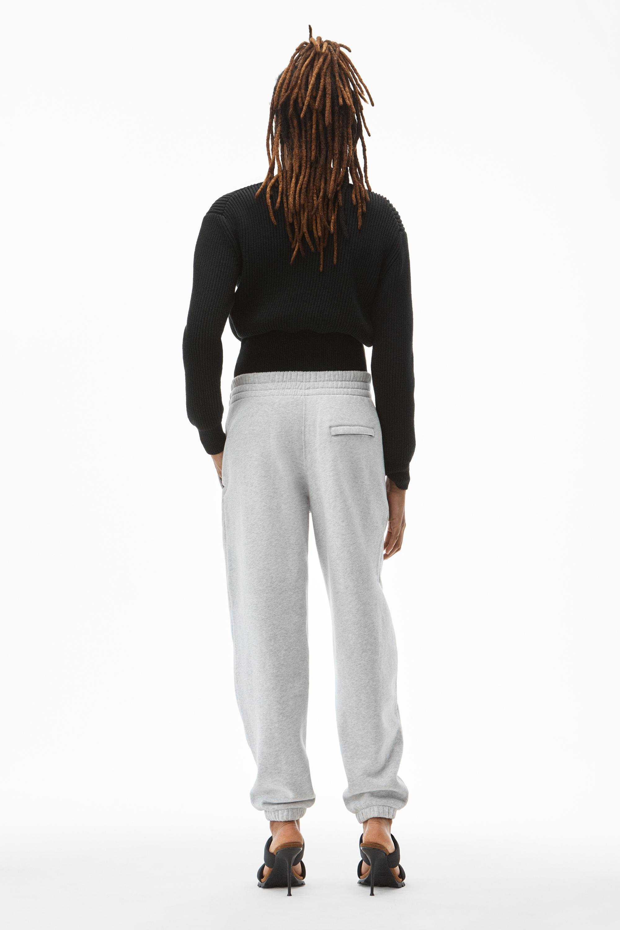 puff paint logo sweatpant in terry 3