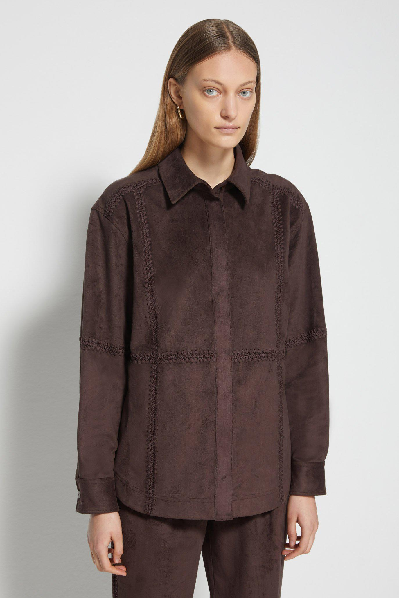 Courtney Faux Suede Shirt