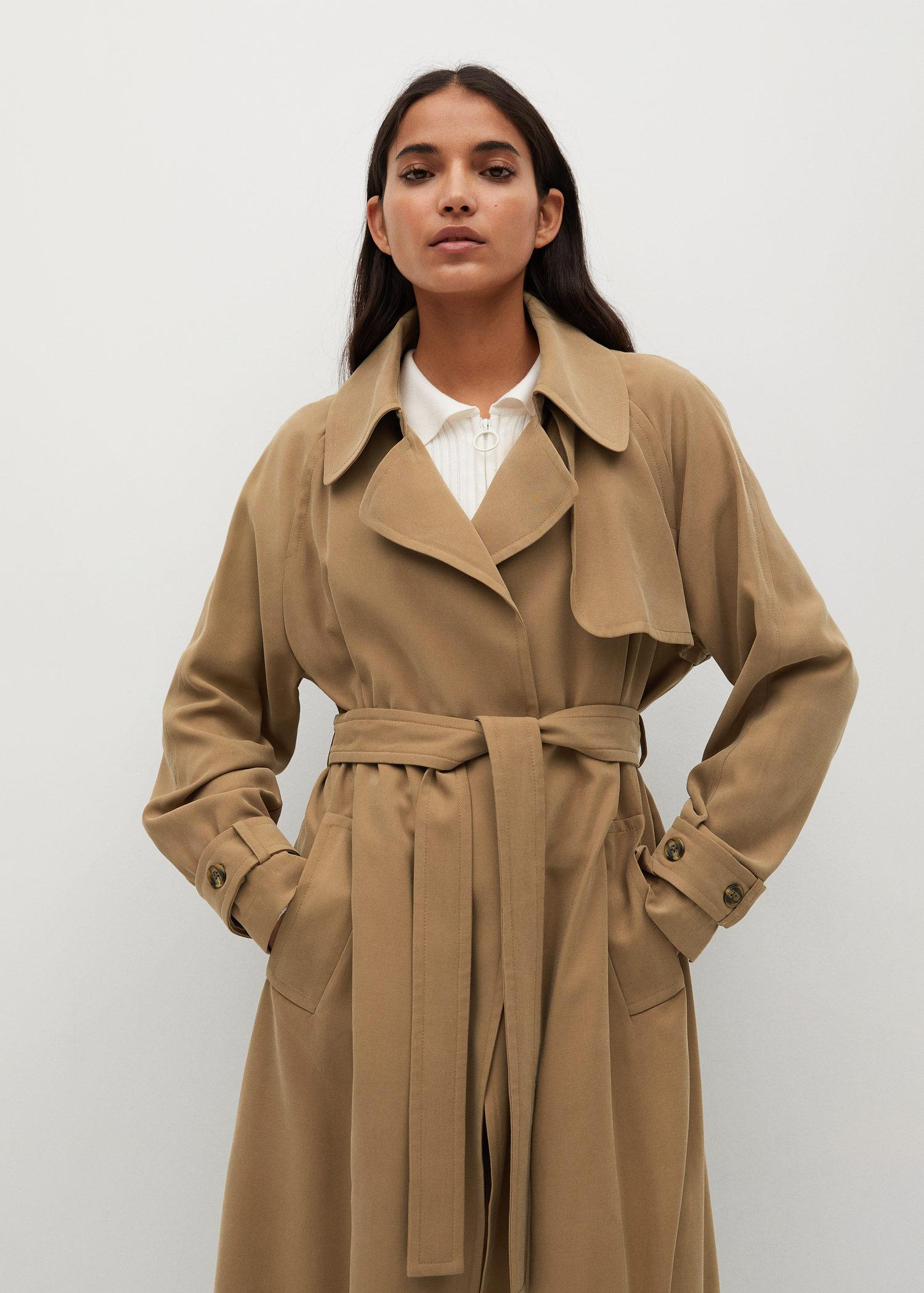 Long flowy trench