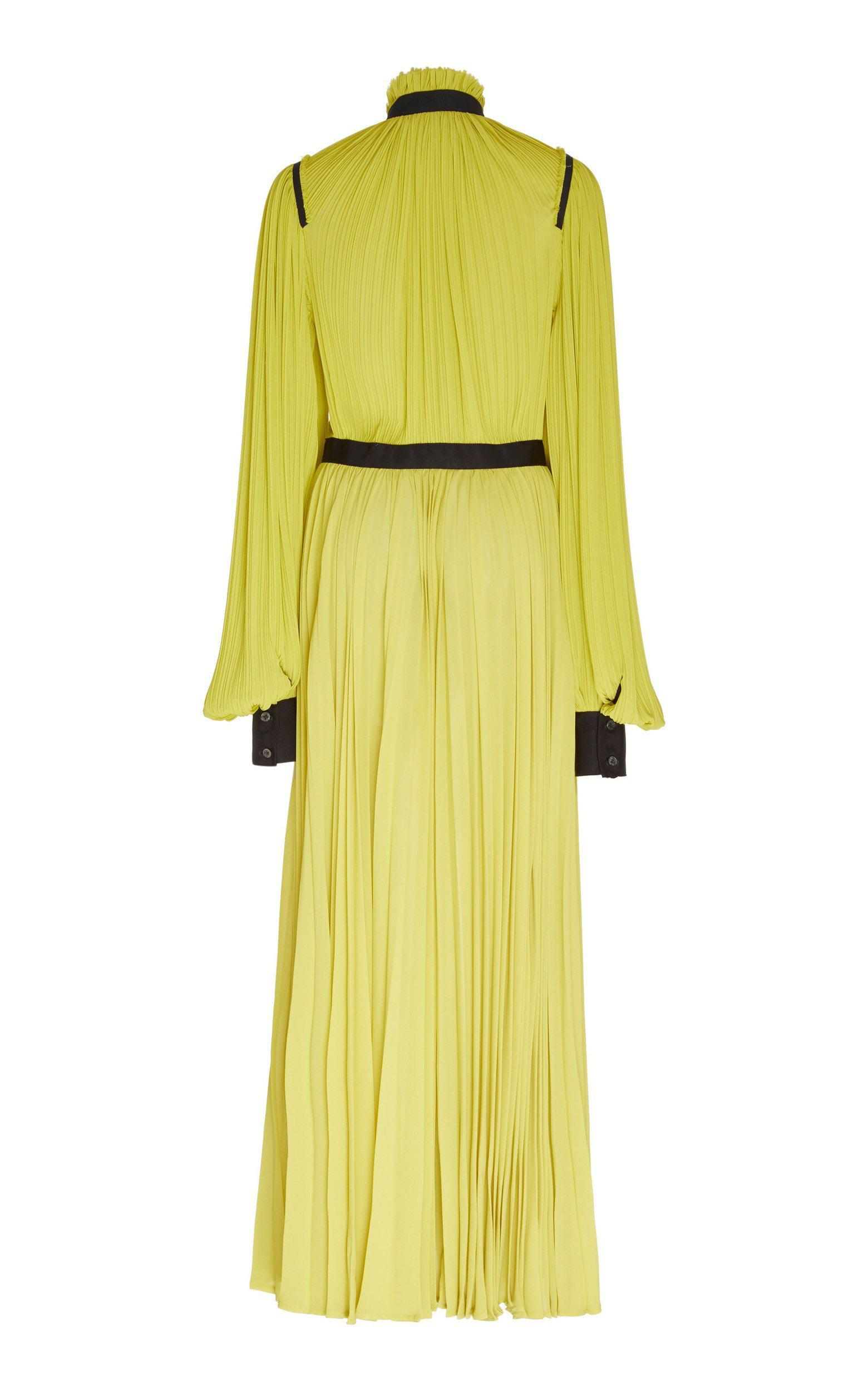 BILLOWING SLEEVE PLEATED GOWN 2