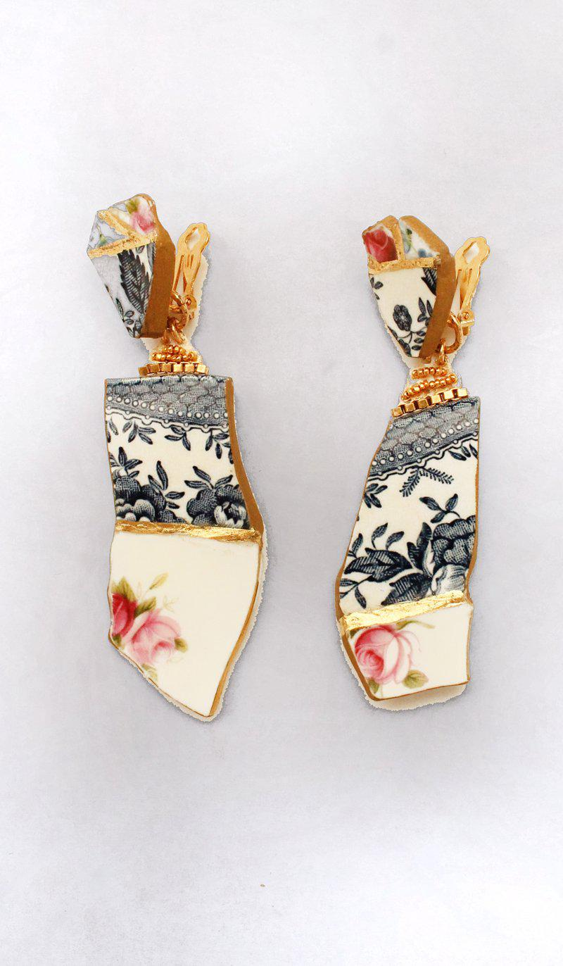 MAIKO CLIP-ON EARRINGS BY PREEN X VICKI SARGE