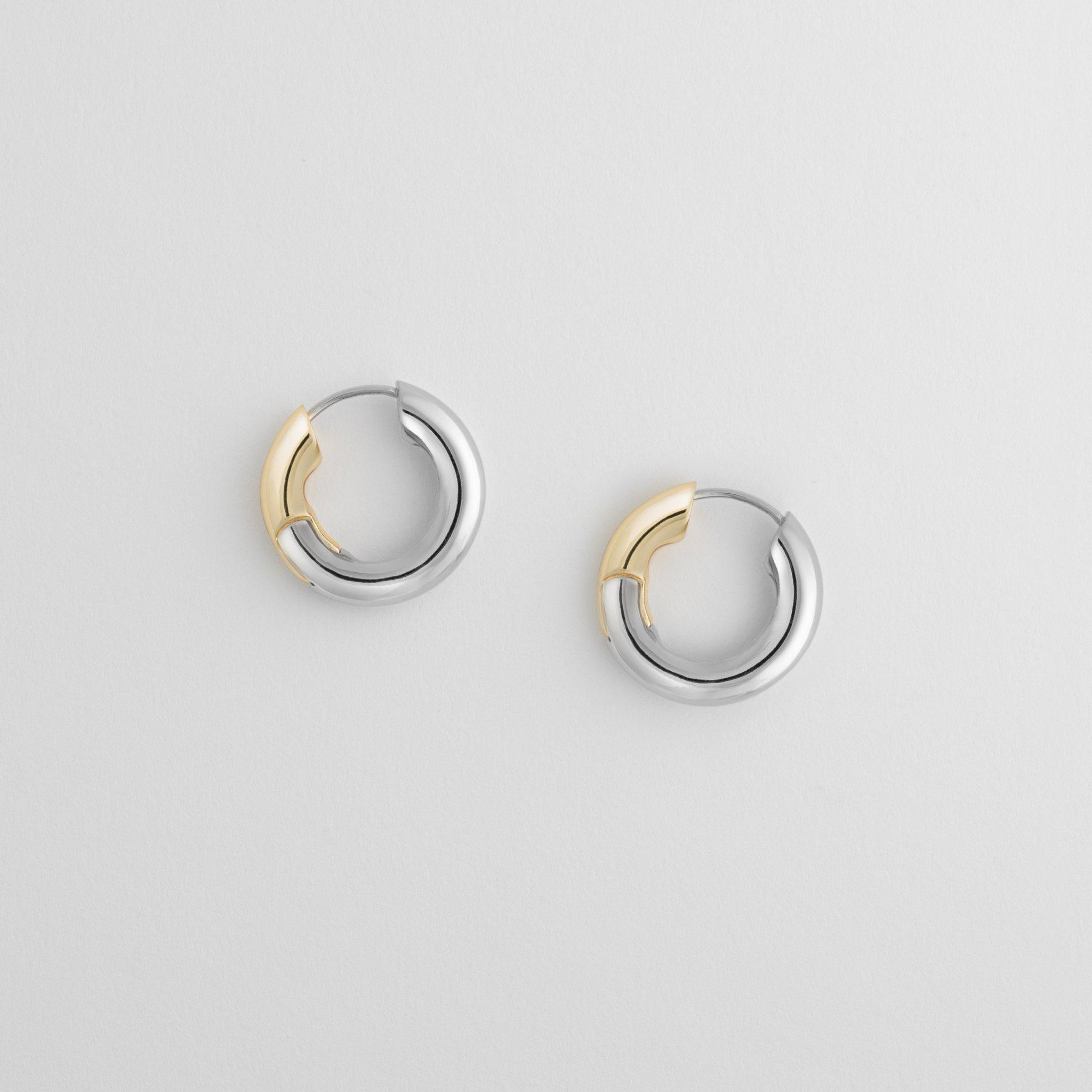 Chunky Hoops in 3/4 Silver