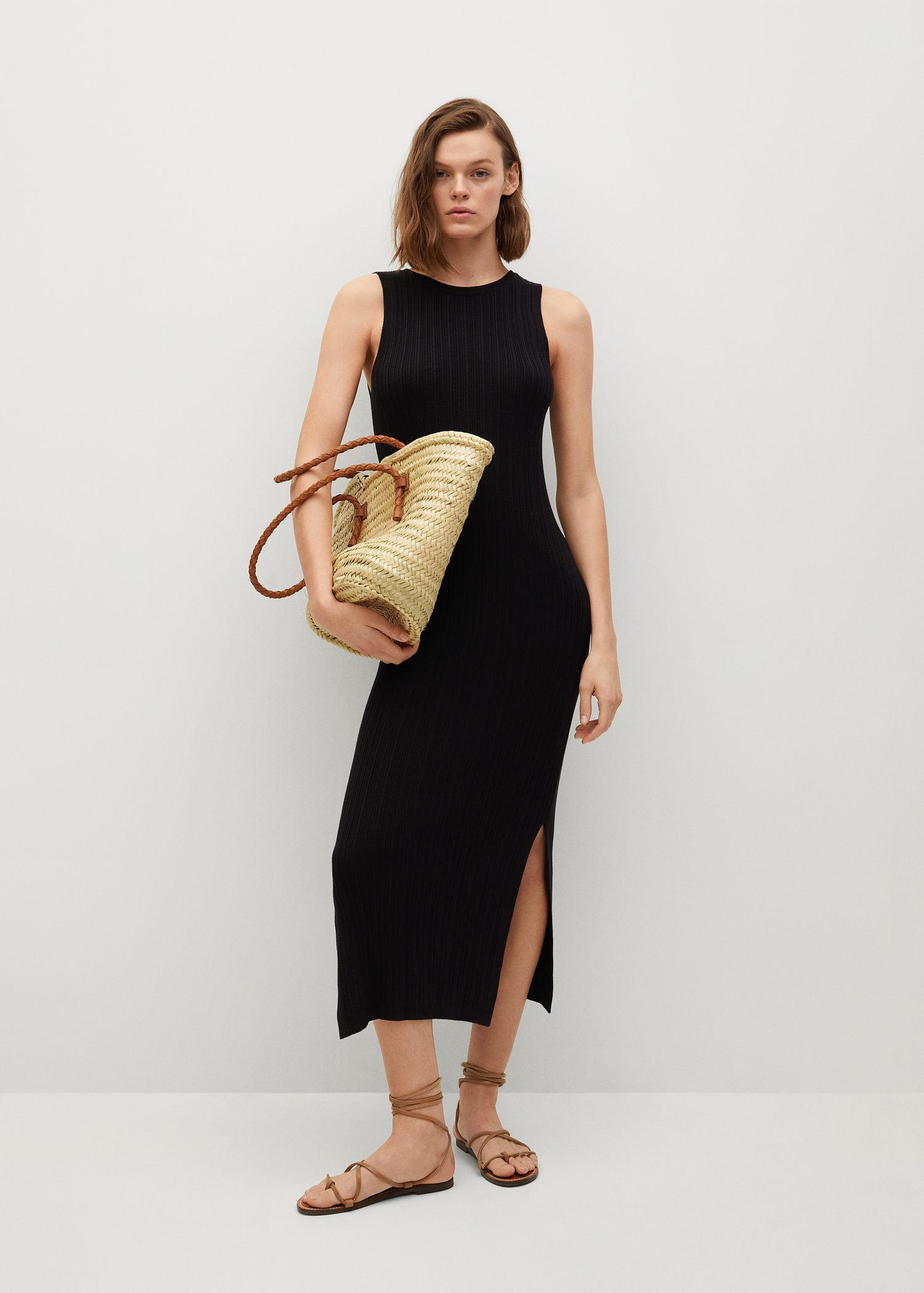 Tailored ribbed dress 1