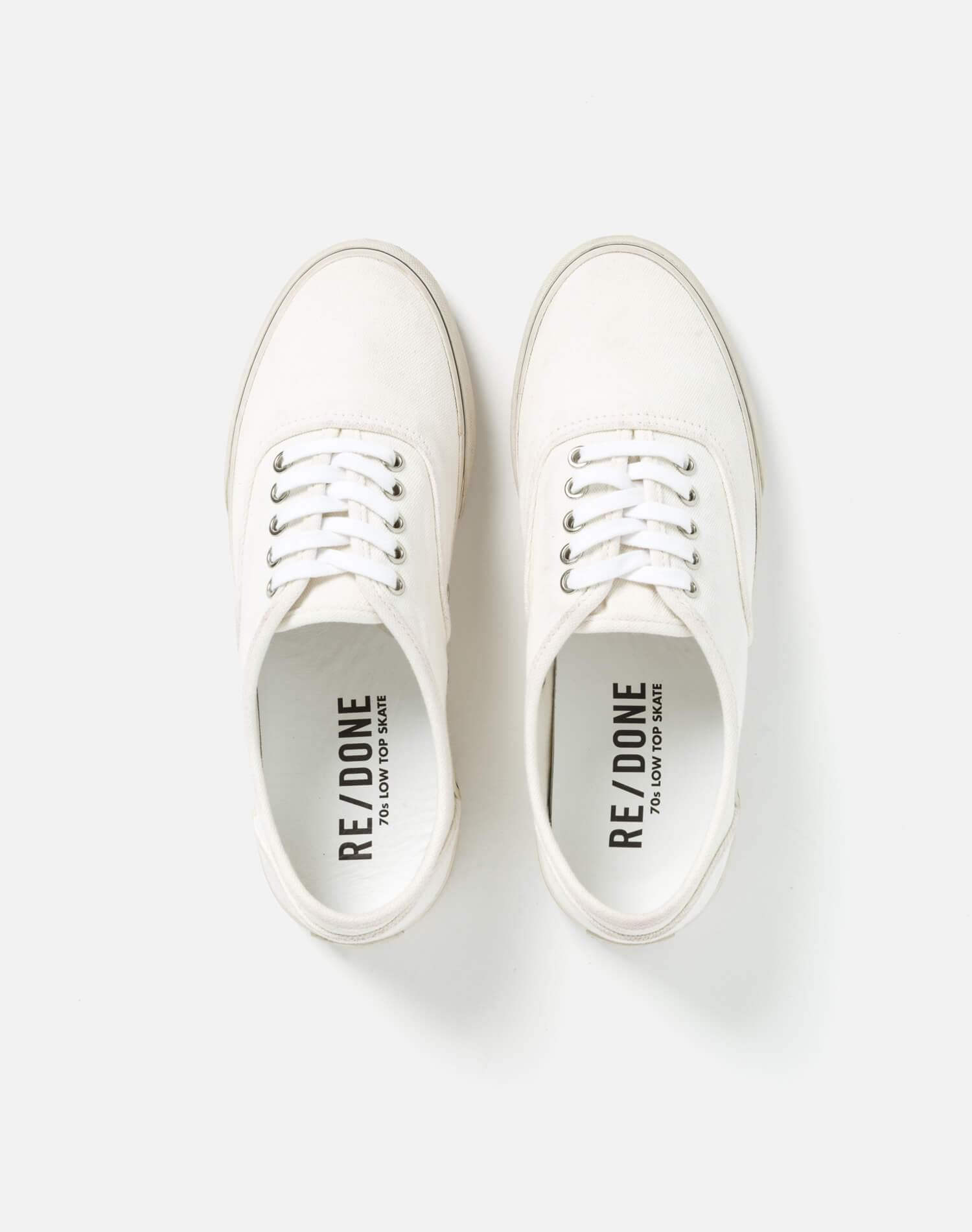 70s Low Top Skate - Washed Off White 2
