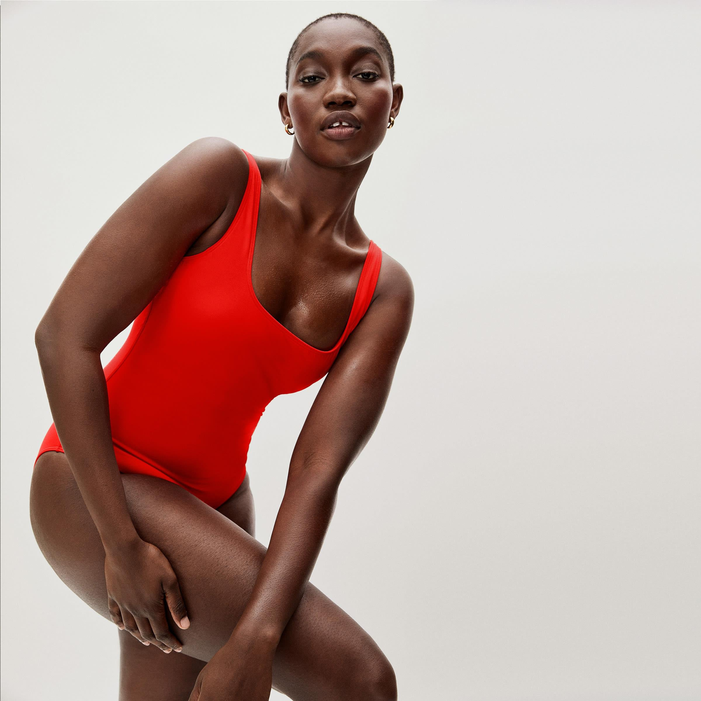 The Square-Neck One-Piece
