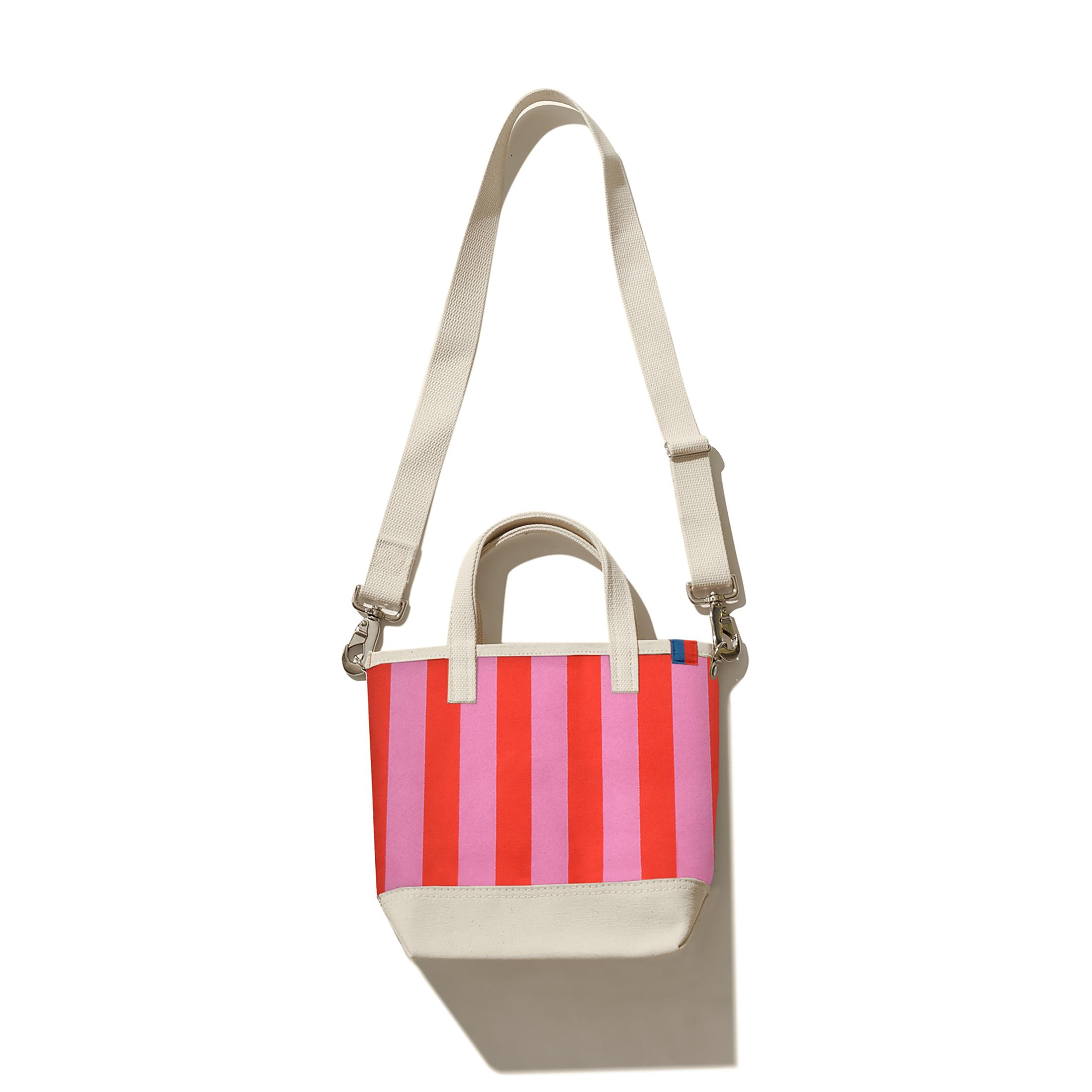 The All Over Striped Bucket - Pink/Poppy