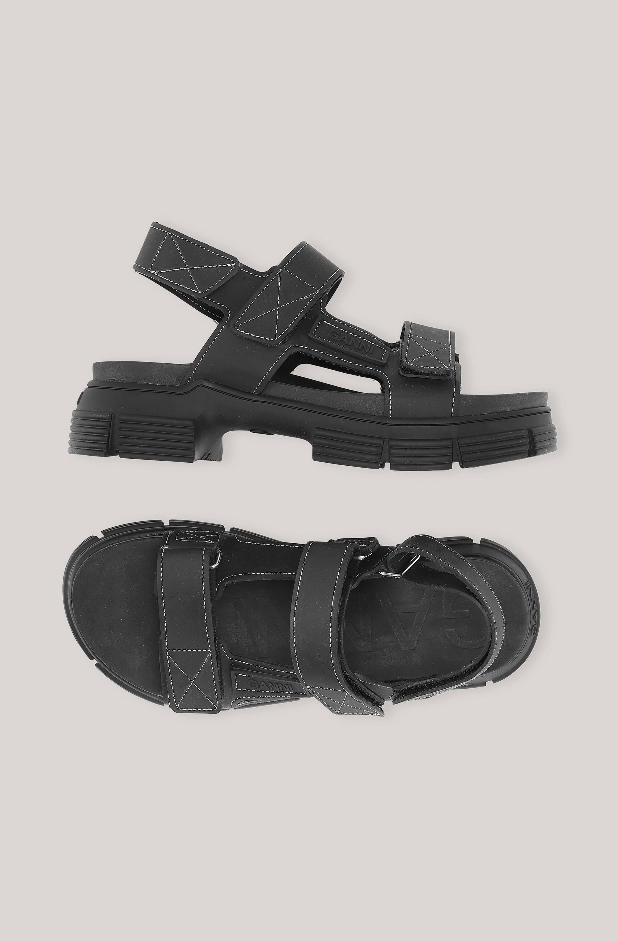 Recycled Rubber Velcro Sandal 1