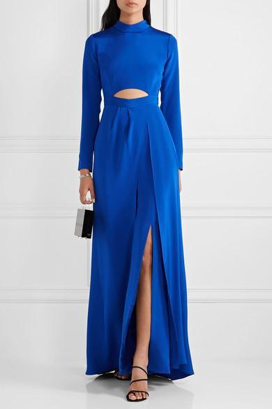 CREPE CUT-OUT JUMPSUIT WITH OVERSKIRT 2