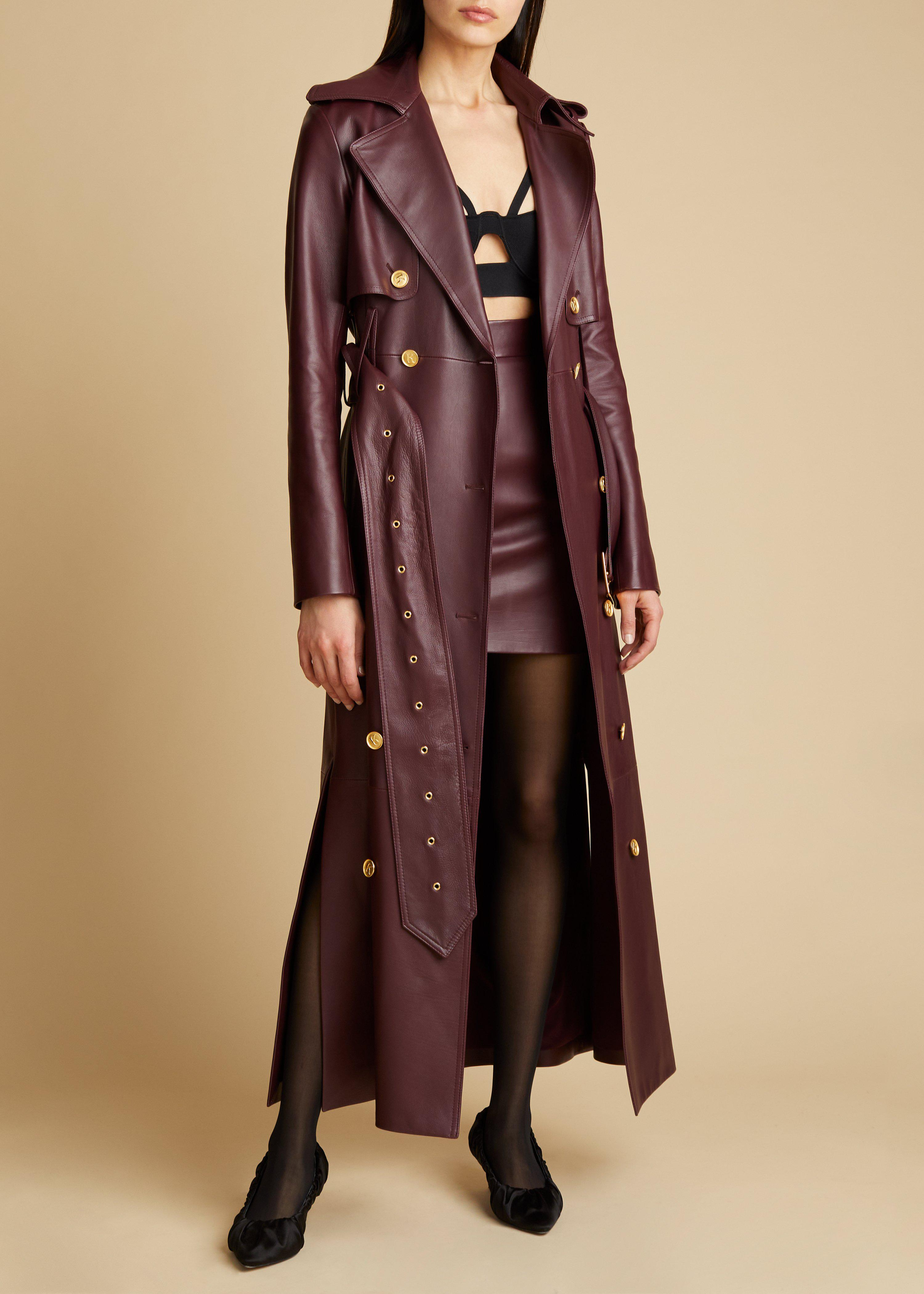 The Eiko Skirt in Bordeaux Leather