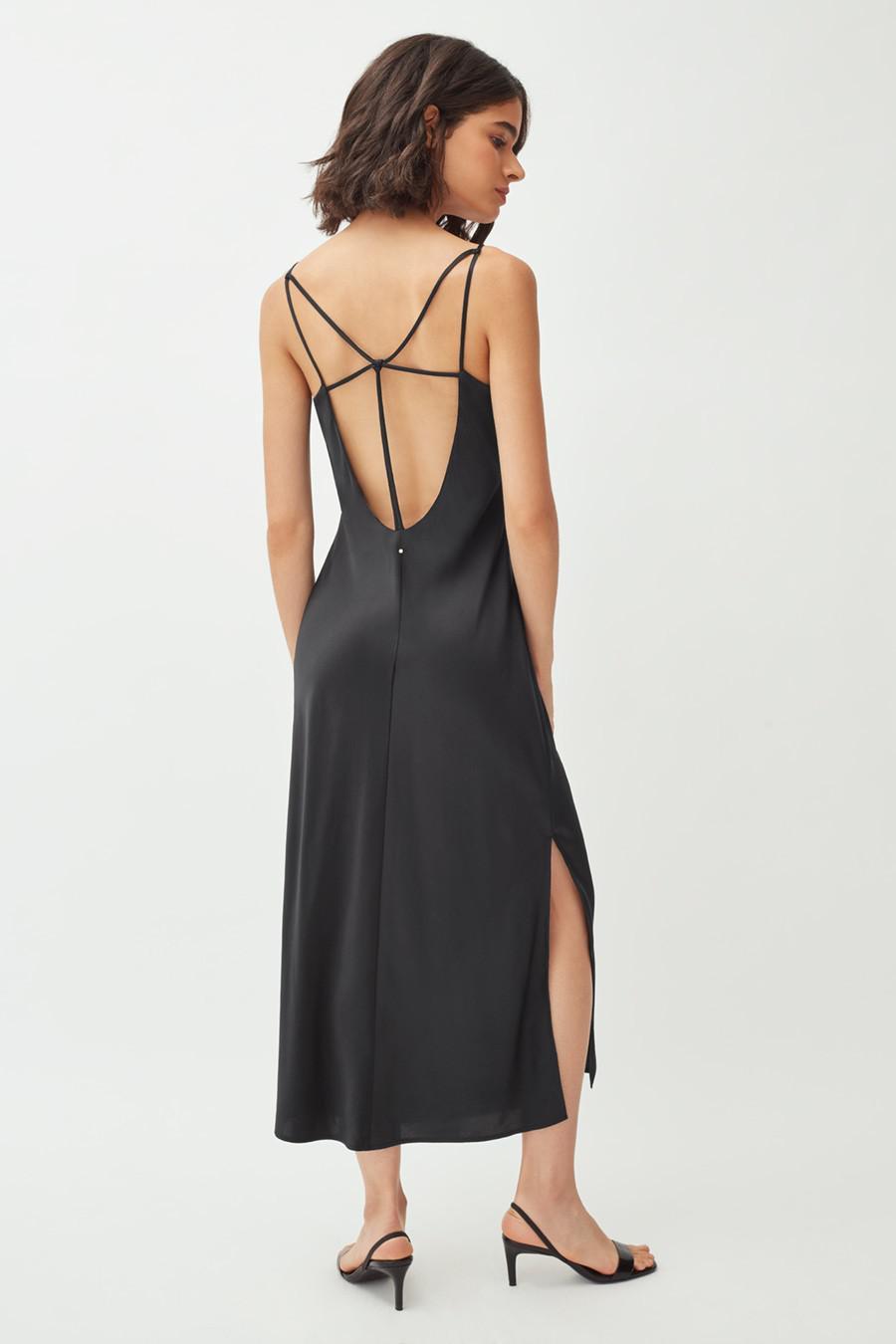 Women's Charmeuse Slip Dress in Black   Size: Large   Silk Charmeuse by Cuyana 2