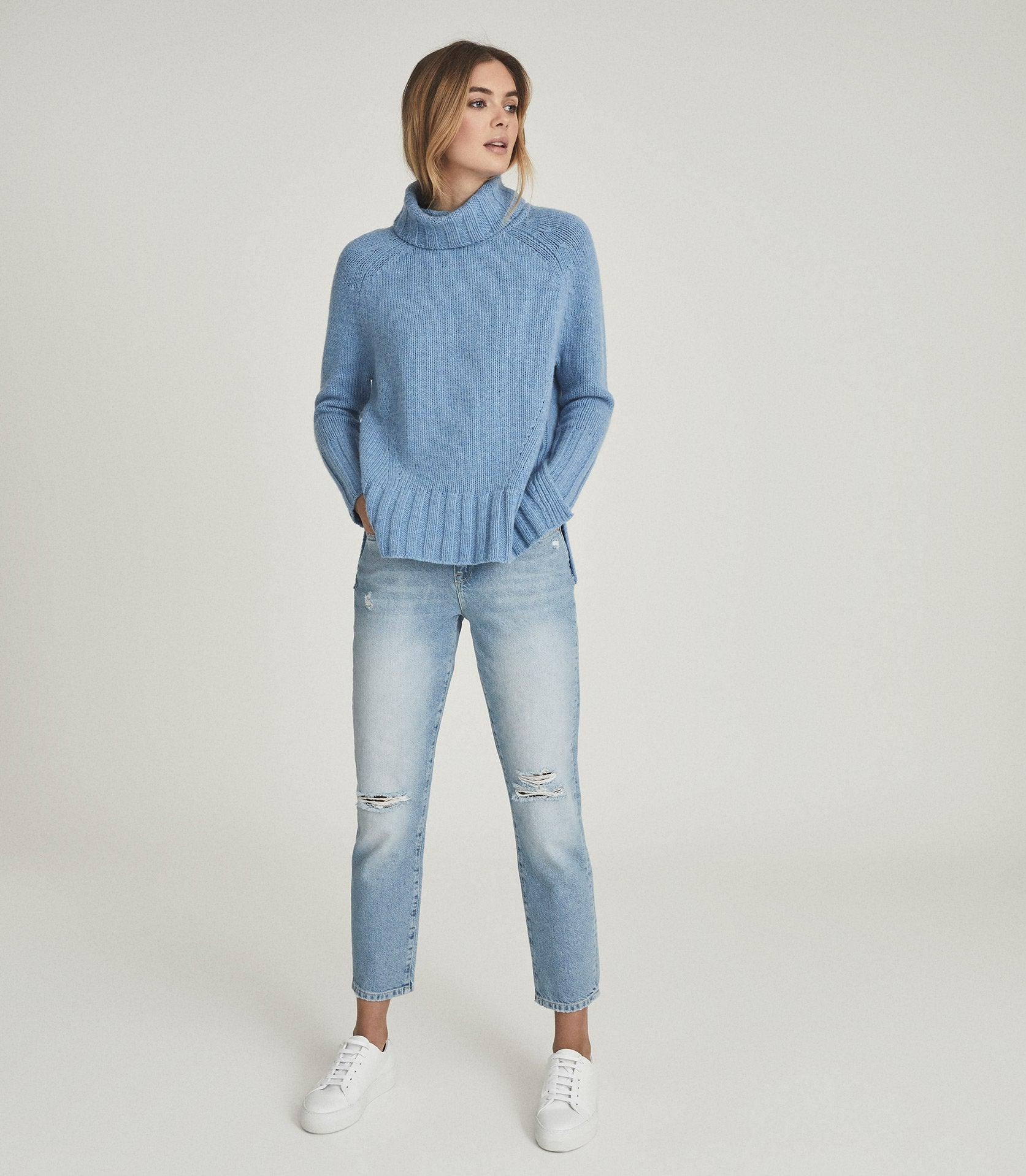 EVE - WOOL CASHMERE BLEND ROLL NECK 0