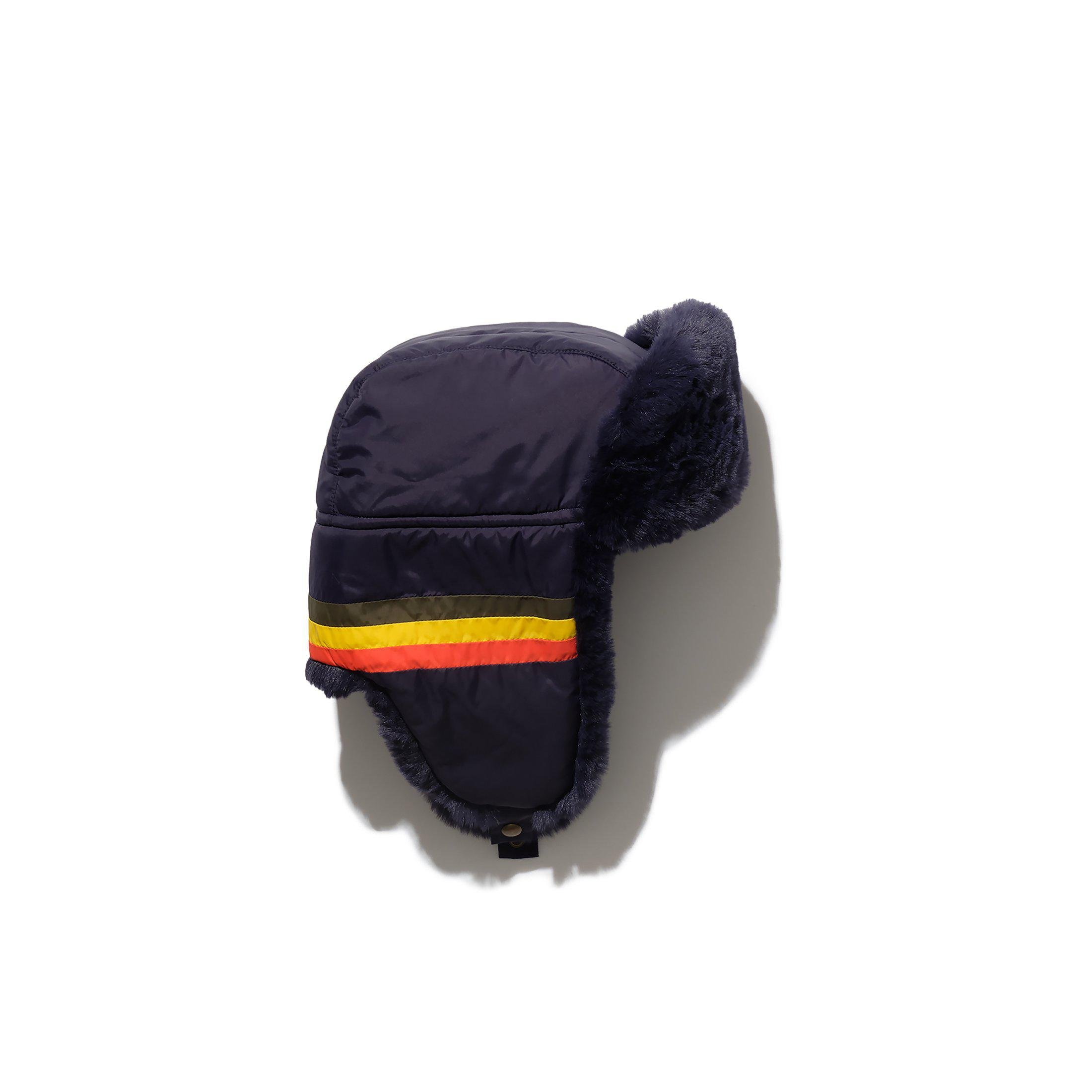 The Trapper Hat - Navy Multi