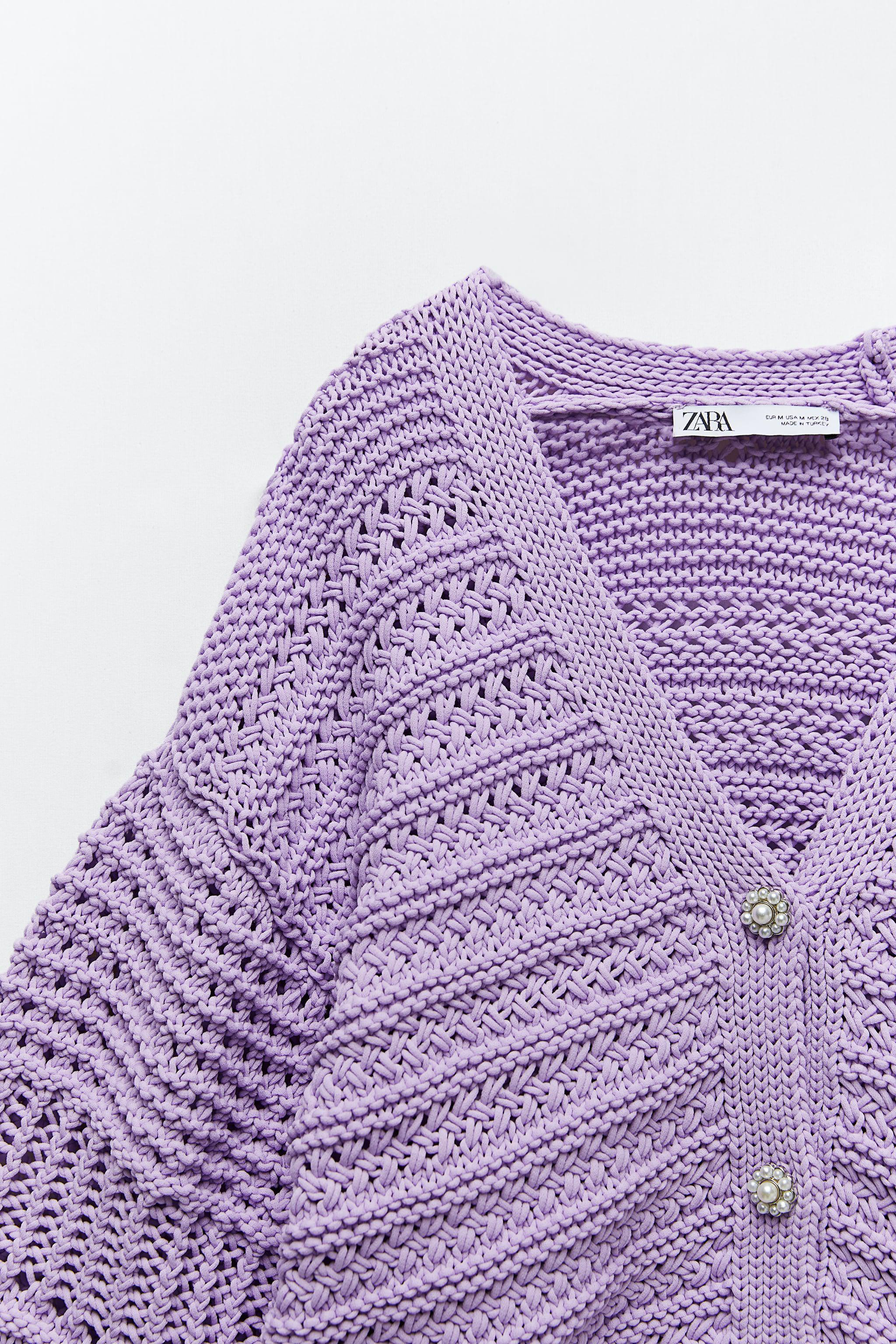 KNIT CARDIGAN WITH PEARL BUTTON 6