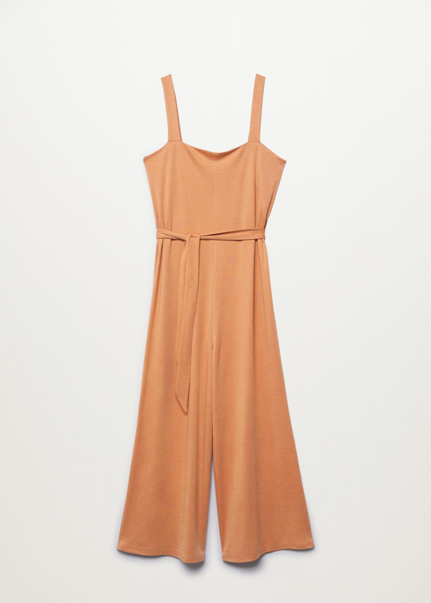 Lyocell jumpsuit with belt 6