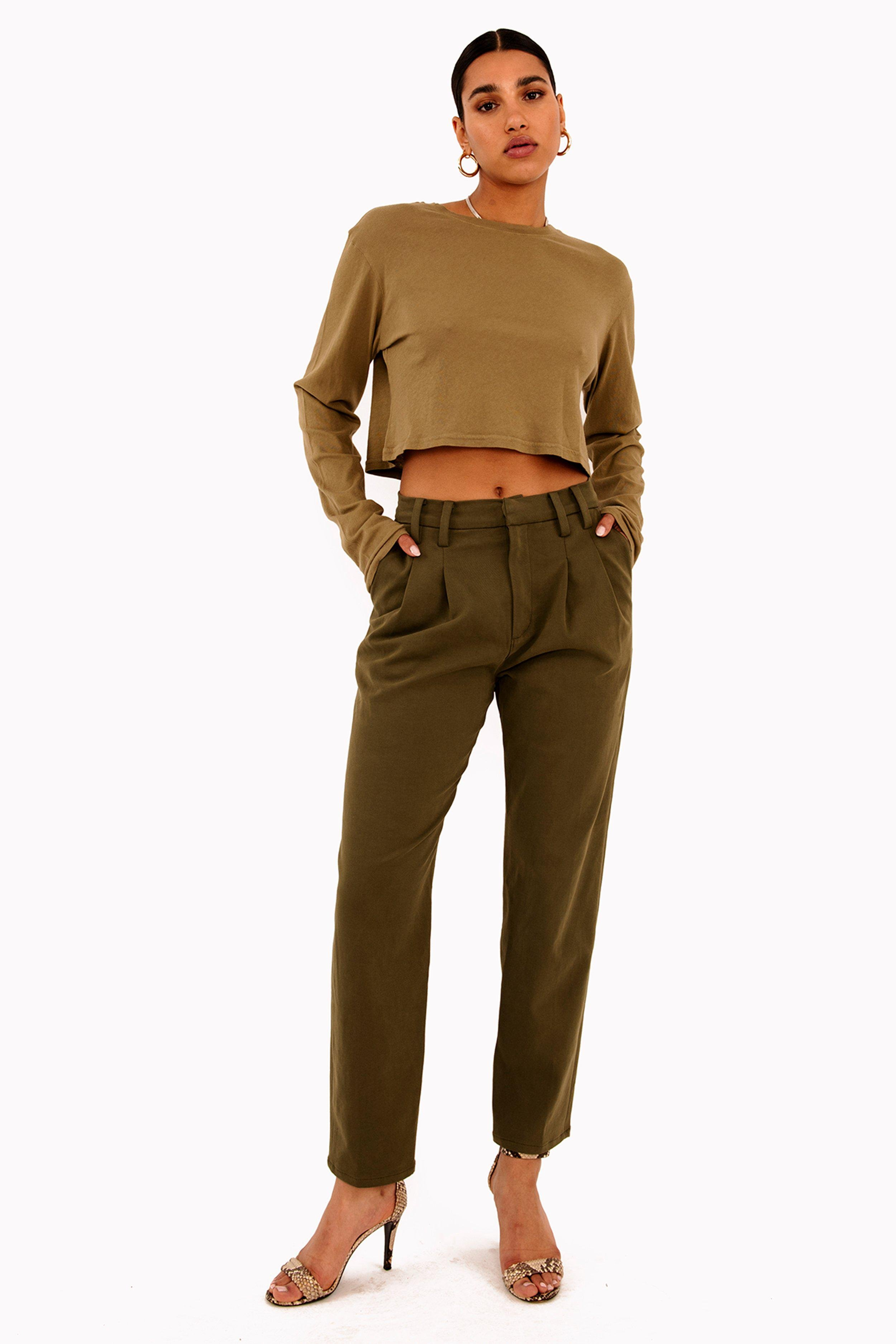Army Green Twill Trouser Pant