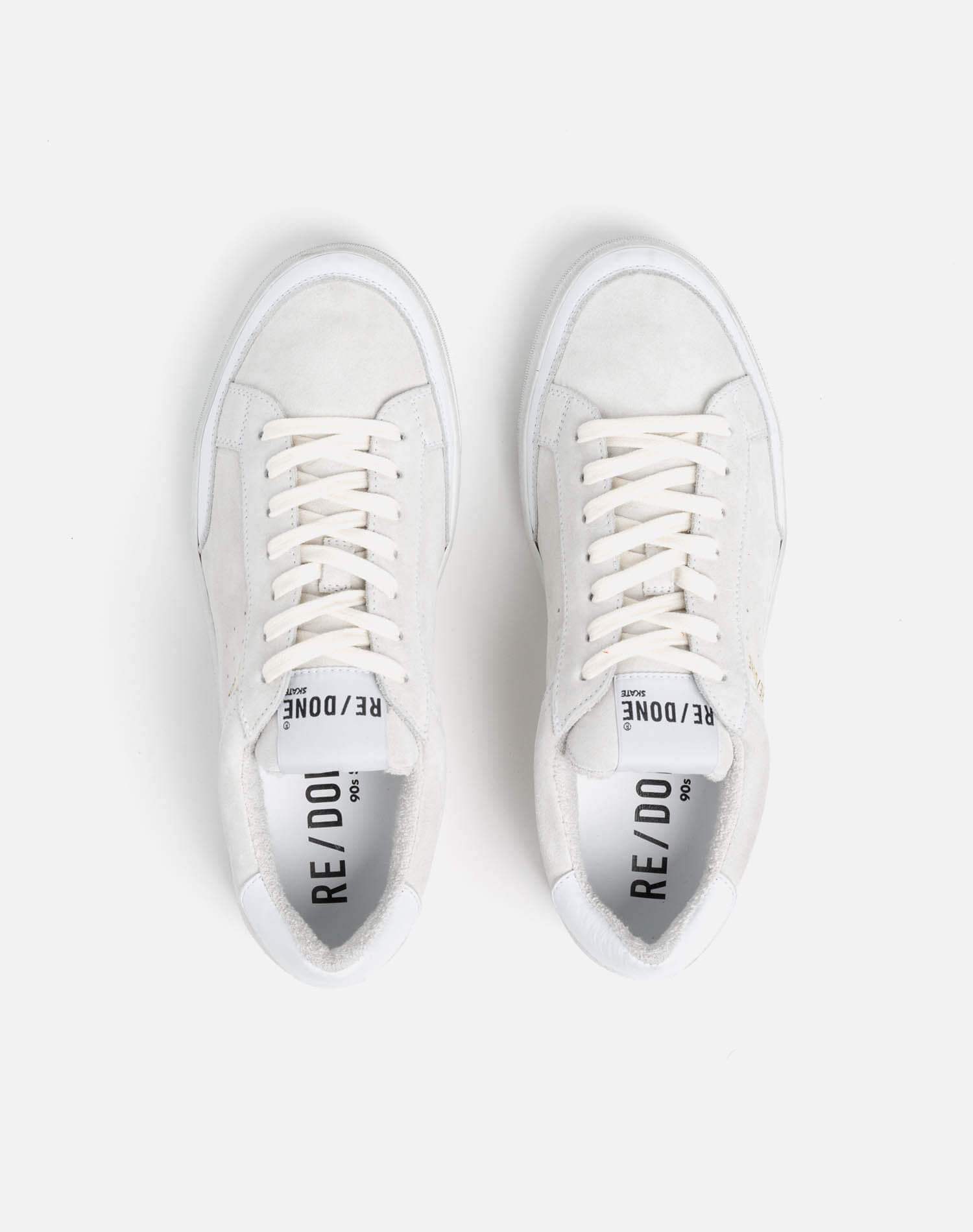 90s Skate Shoe - White Suede 2