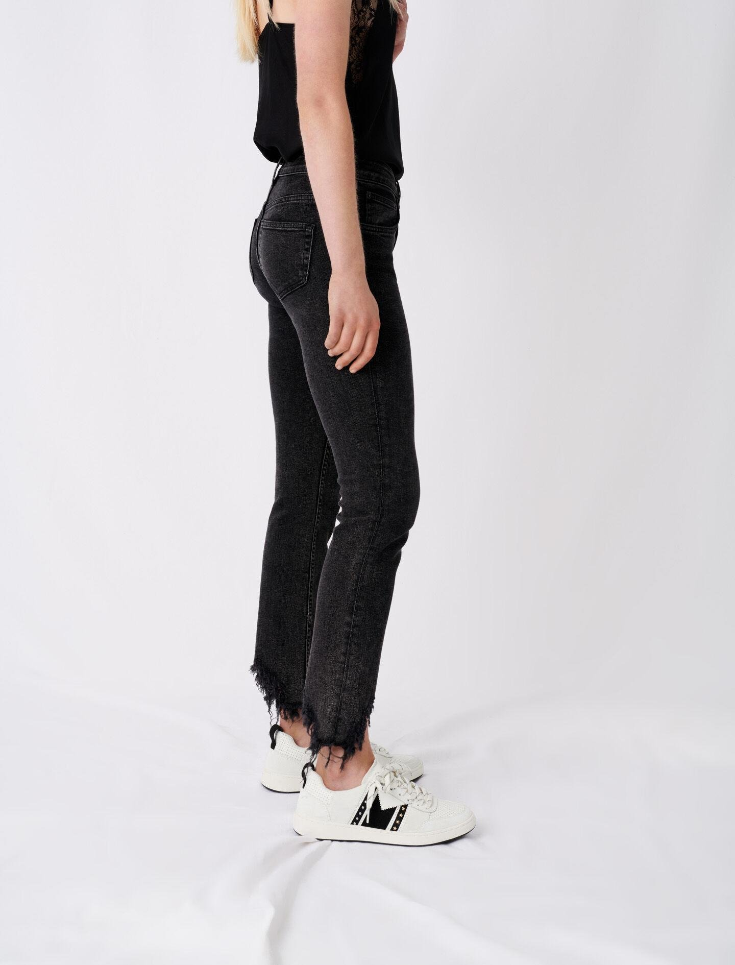 STRAIGHT CUT RIPPED JEANS 2