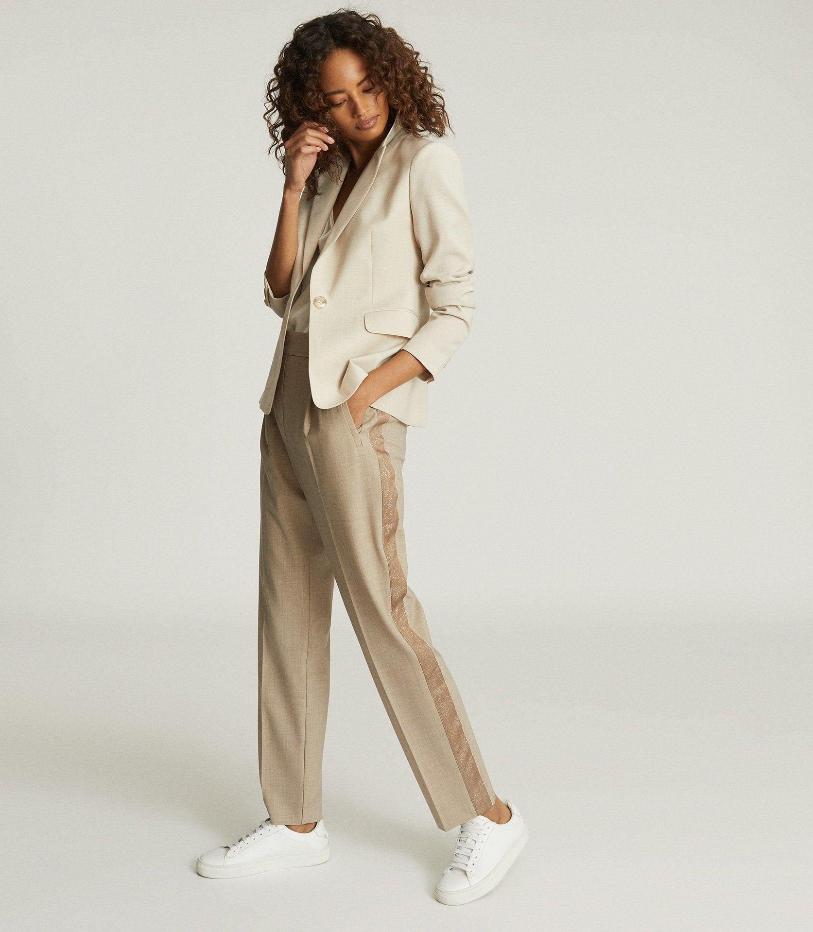 JAY - PLEAT FRONT TAILORED TROUSERS