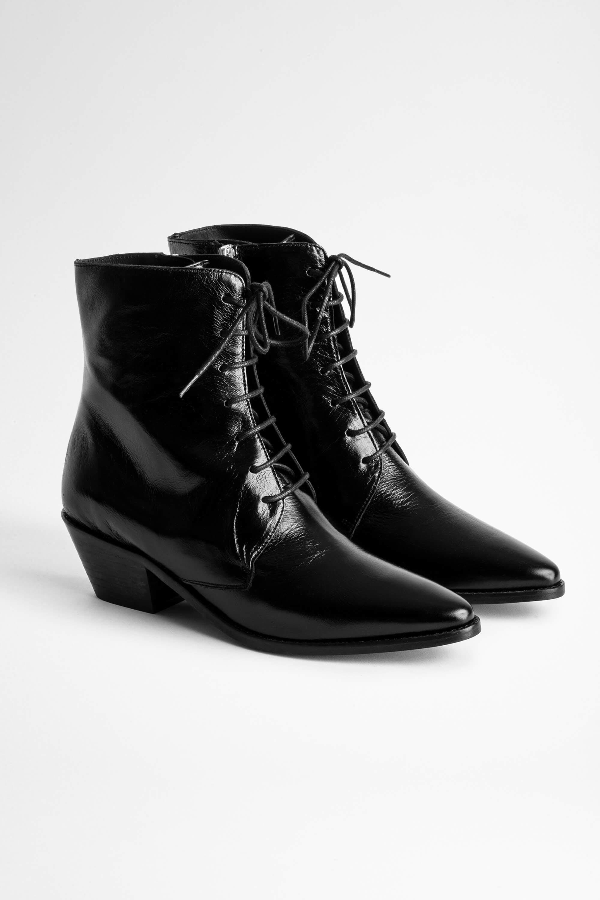 Tyler Laced Vintage Ankle Boots 2