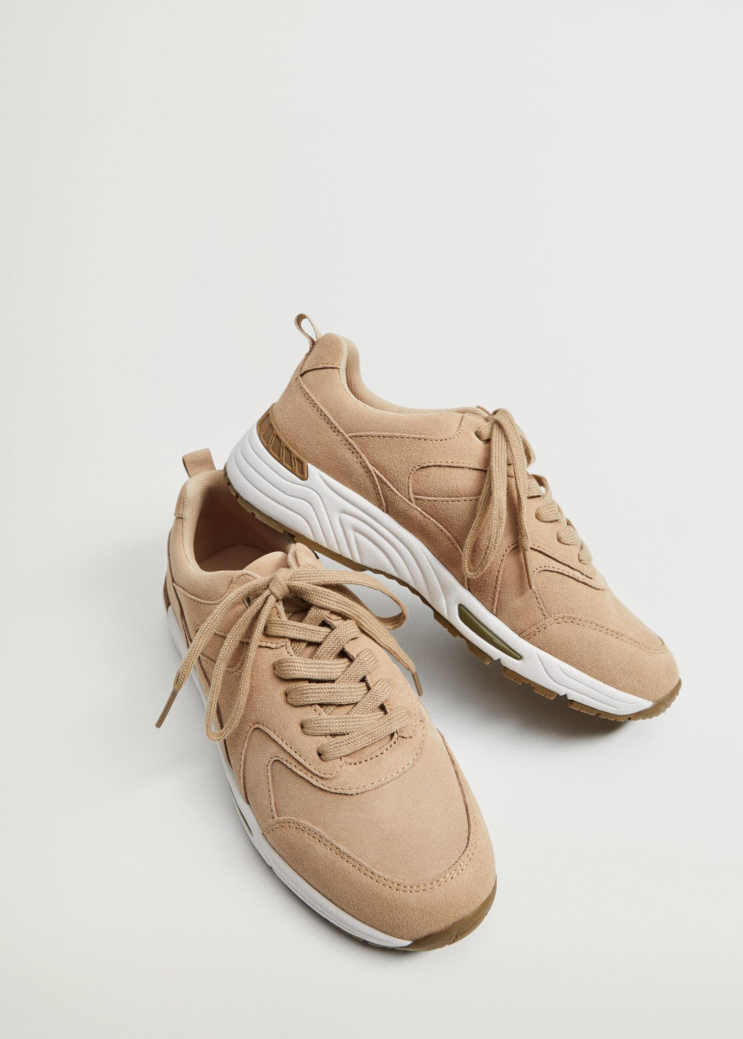 Contrast sole leather sport shoes 4
