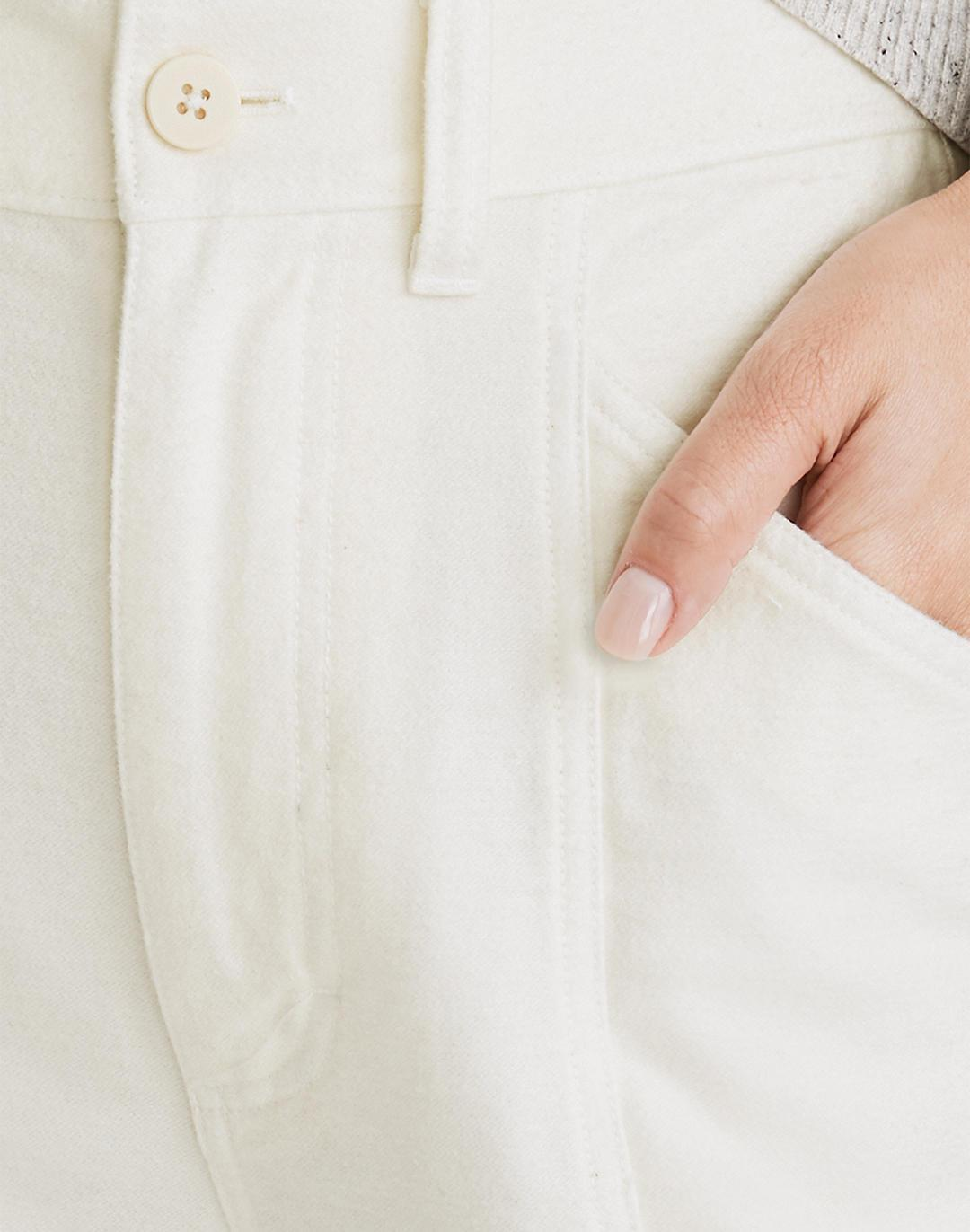 Moleskin High-Rise Seamed Tapered Pants 4