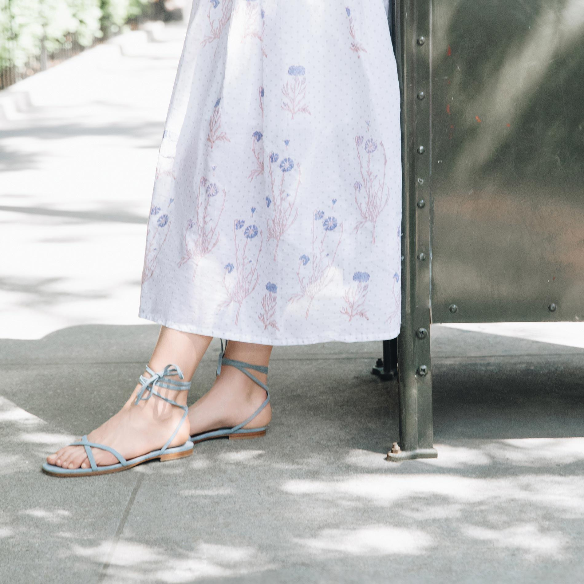 The Wrap Sandal - French Blue Suede 4