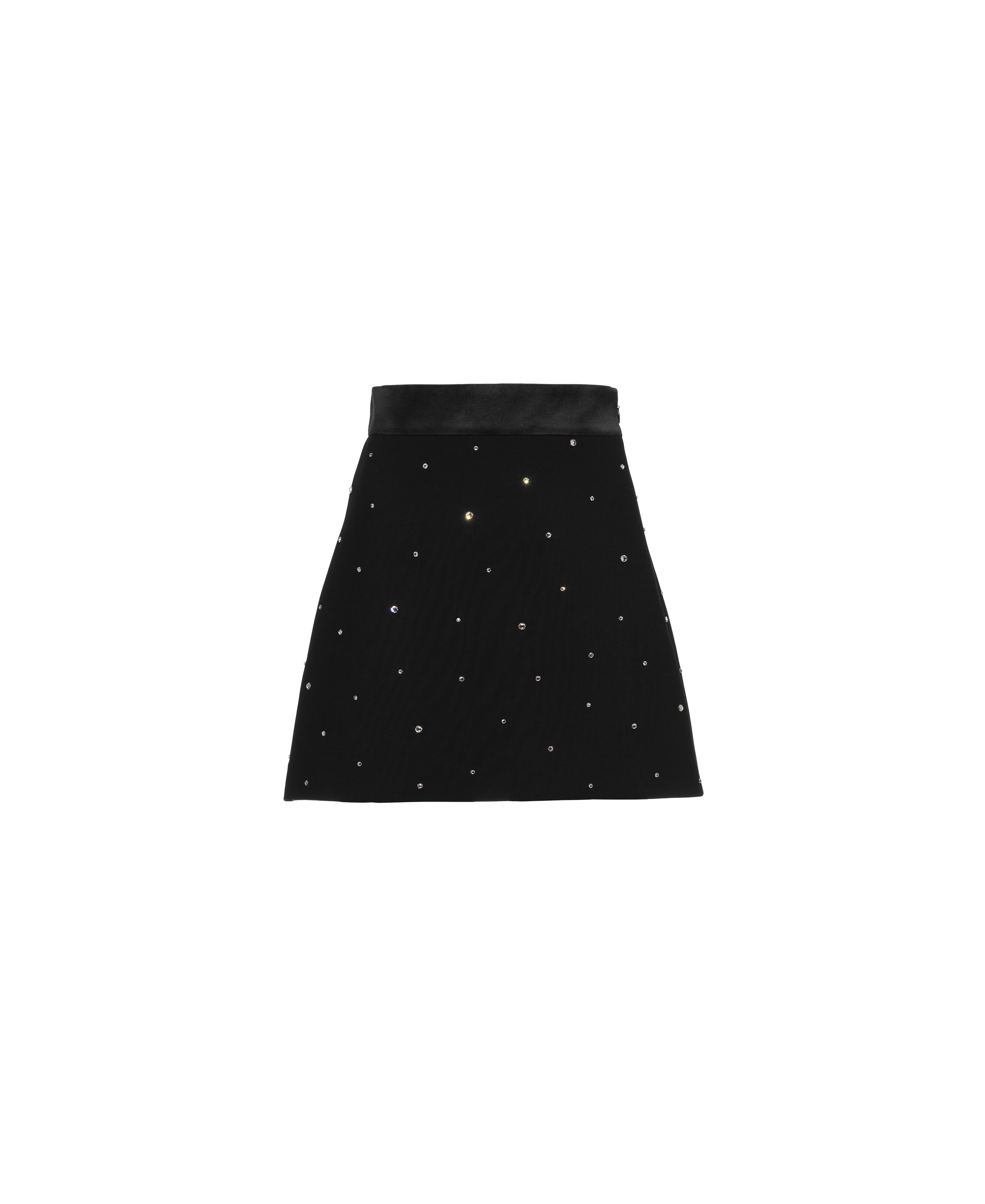 Embroidered Cady Skirt Women Black