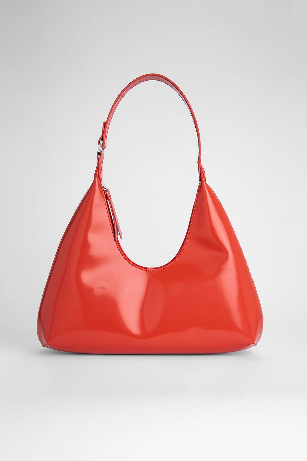 Amber Scarlet Semi Patent Leather