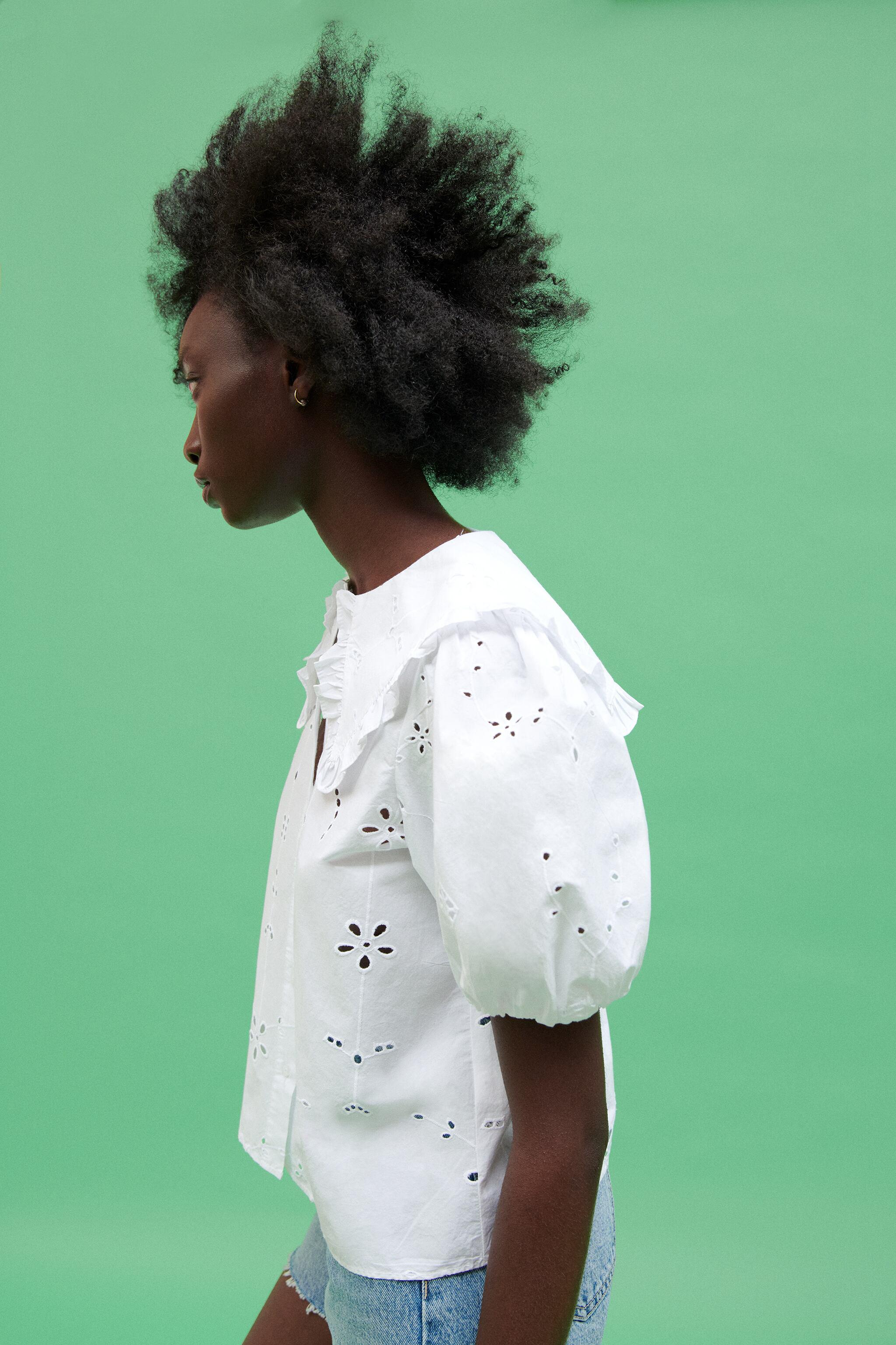 POPLIN TOP WITH EYELET EMBROIDERY 3