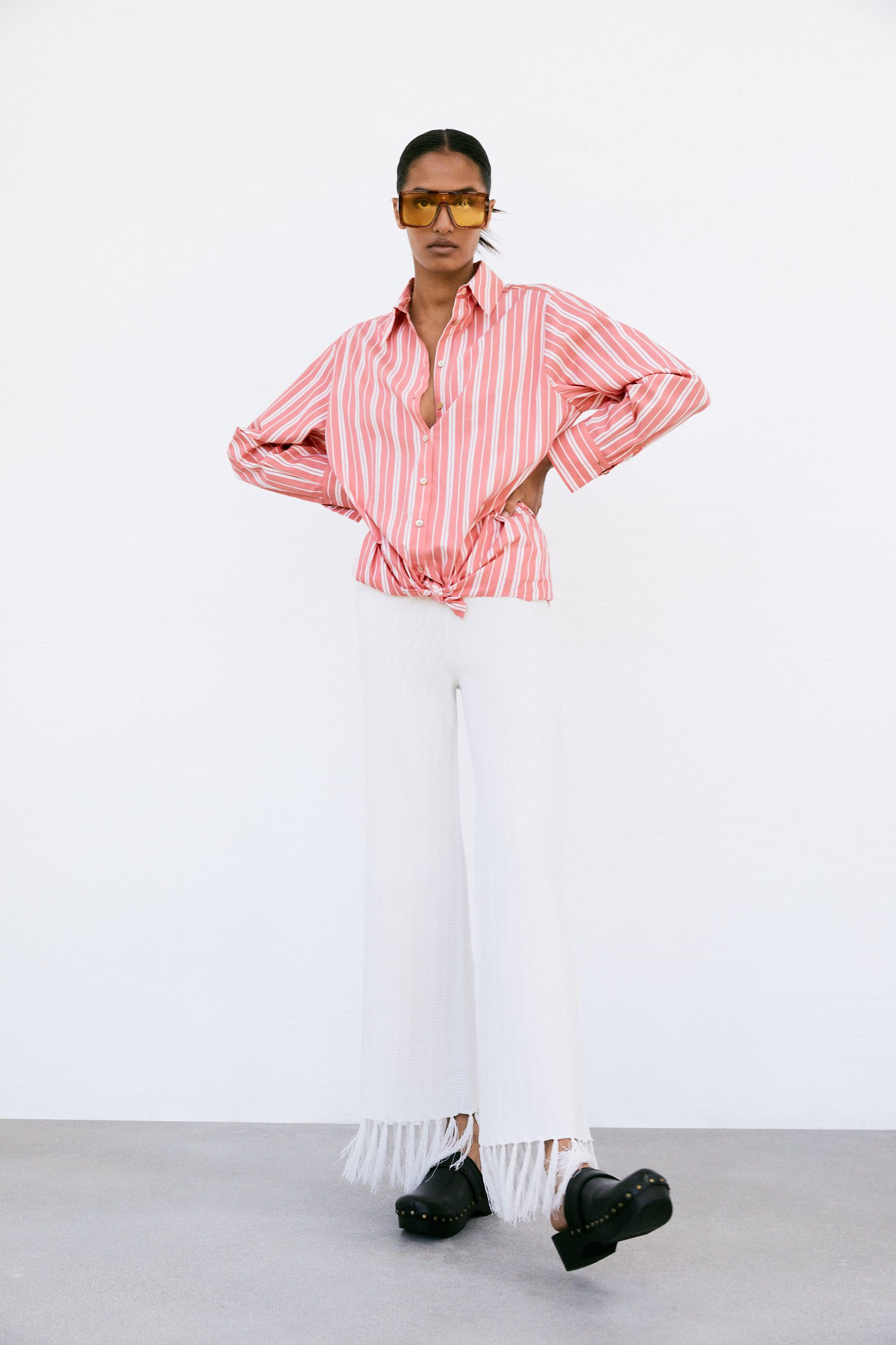 STRIPED SHIRT WITH KNOT