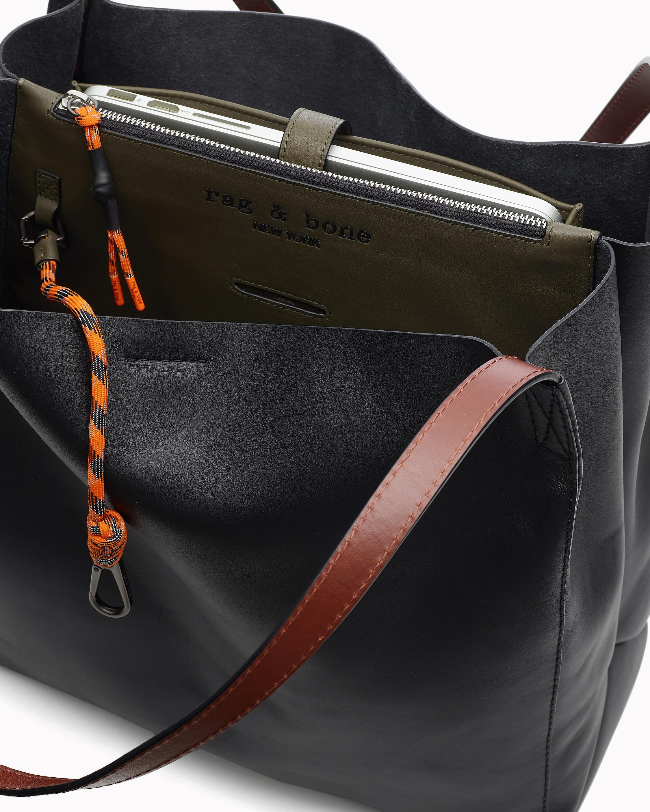 Passenger tote - leather 2