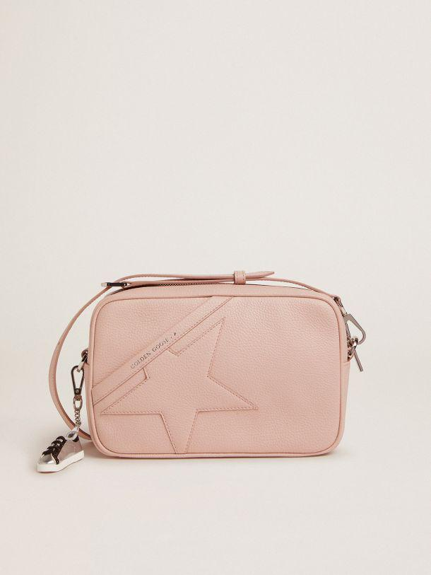 Star Bag in quartz-pink hammered leather with tone-on-tone star