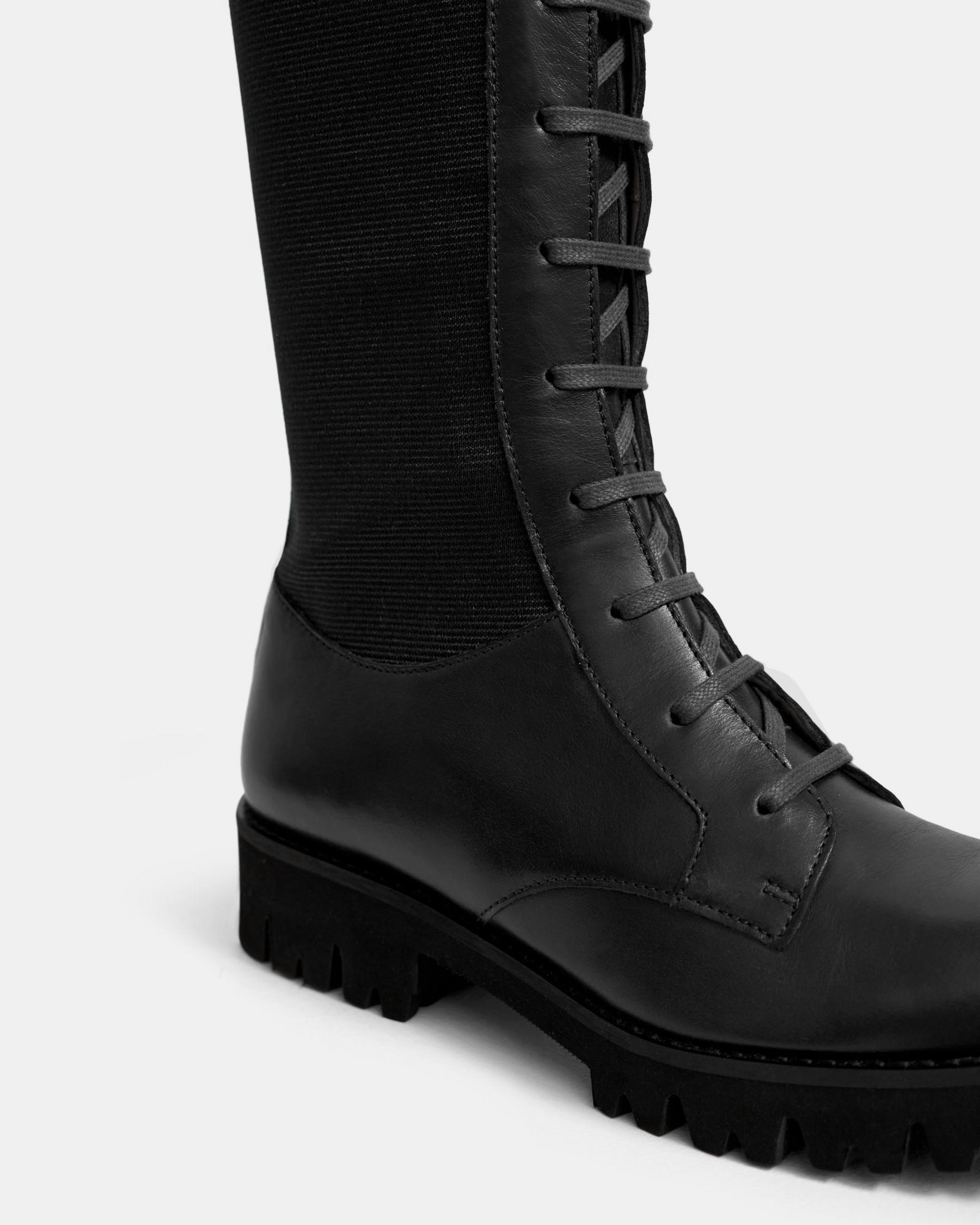 Laced Lug Boot in Leather 3