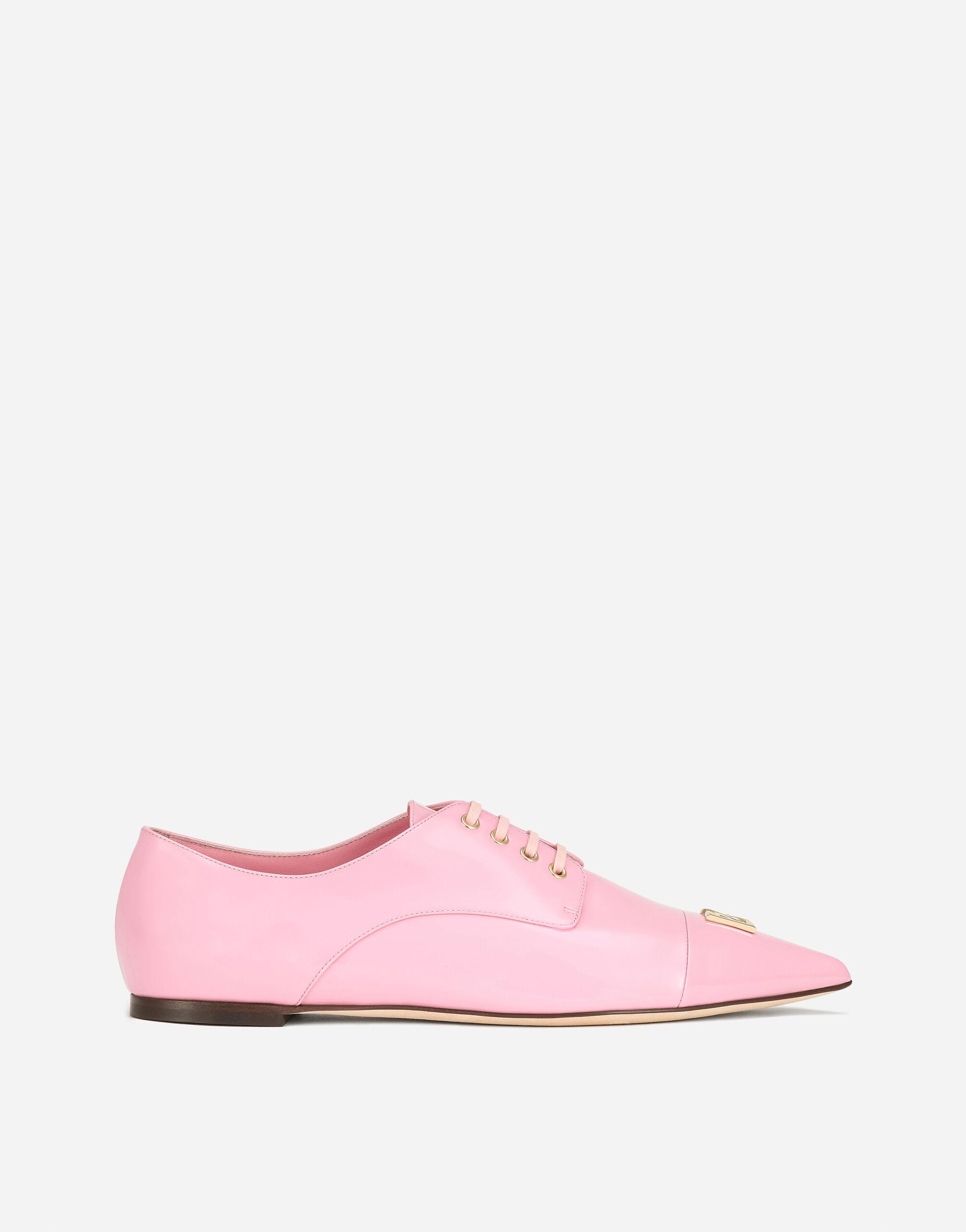 Patent leather Derby shoes with DG logo