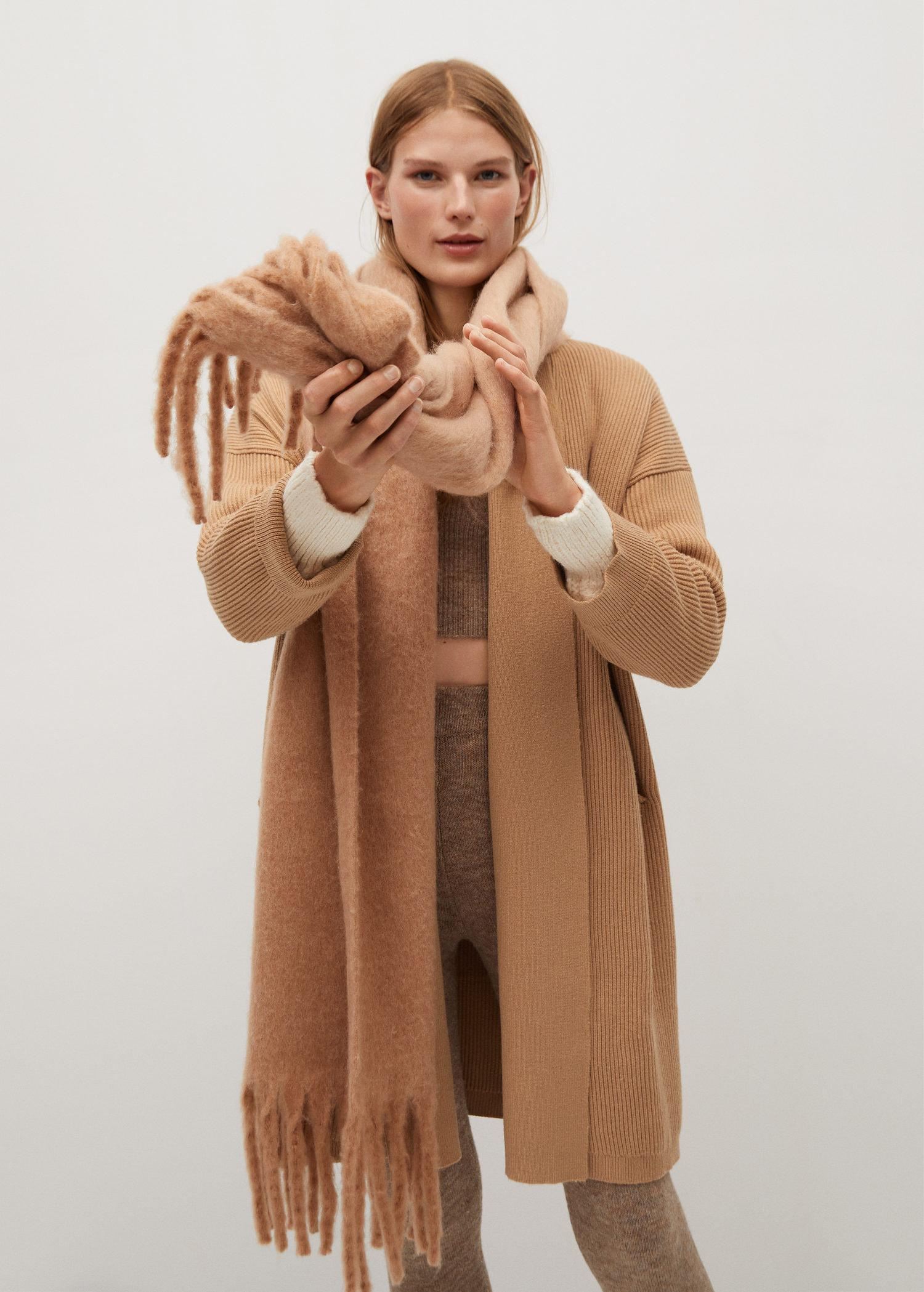 Knitted long coat