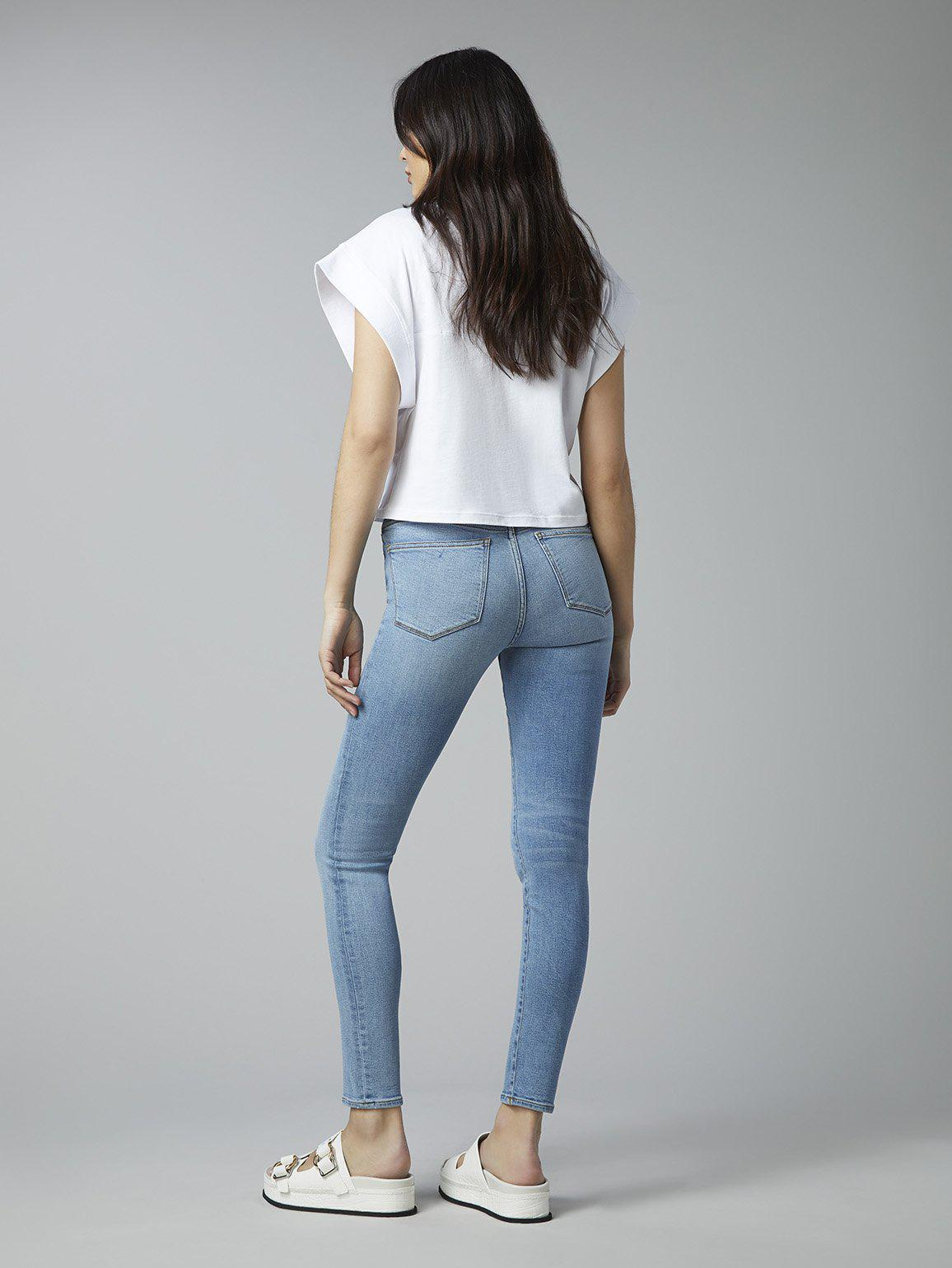 Florence Skinny Mid Rise Instasculpt Ankle   Cloud 2