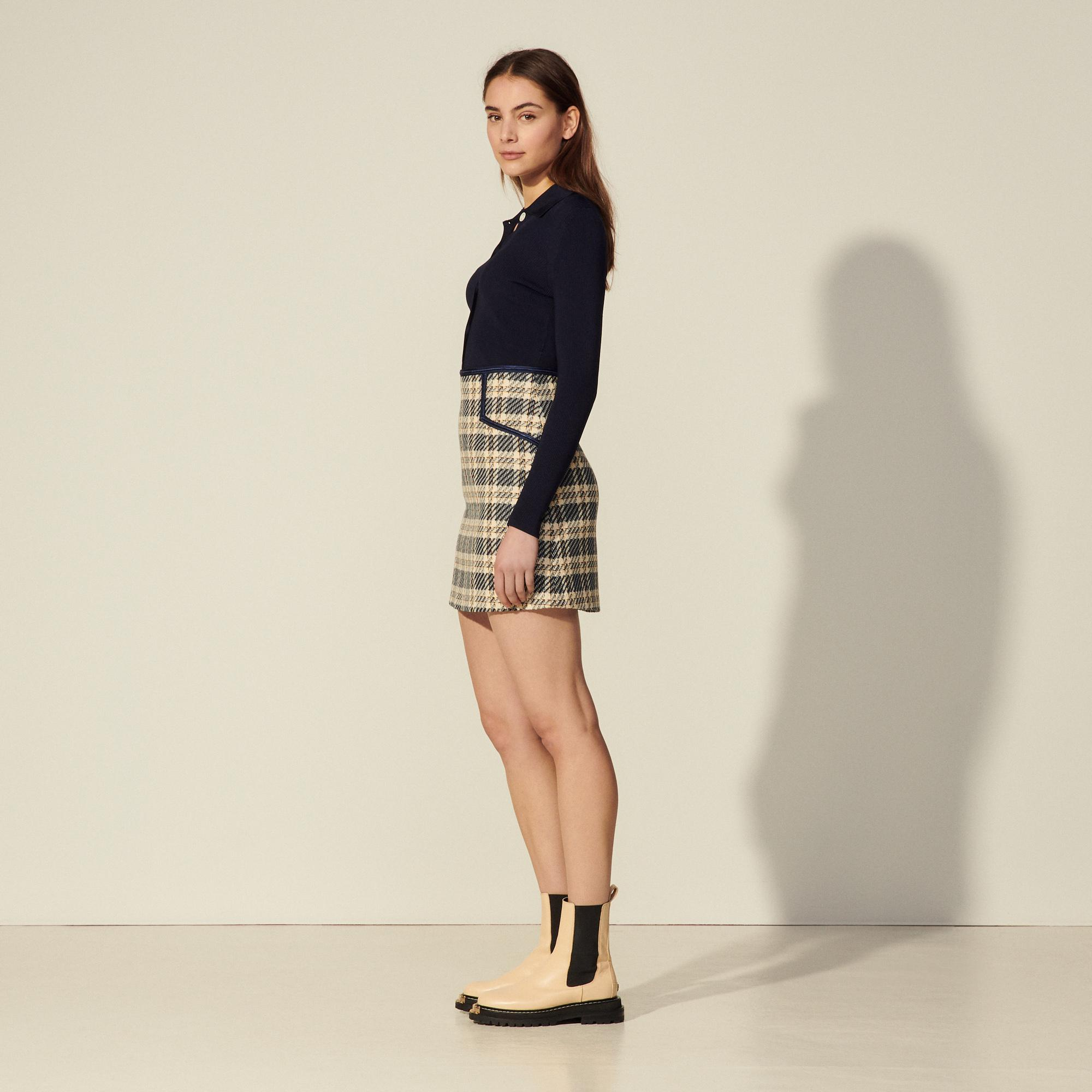 Checked tweed skirt 2