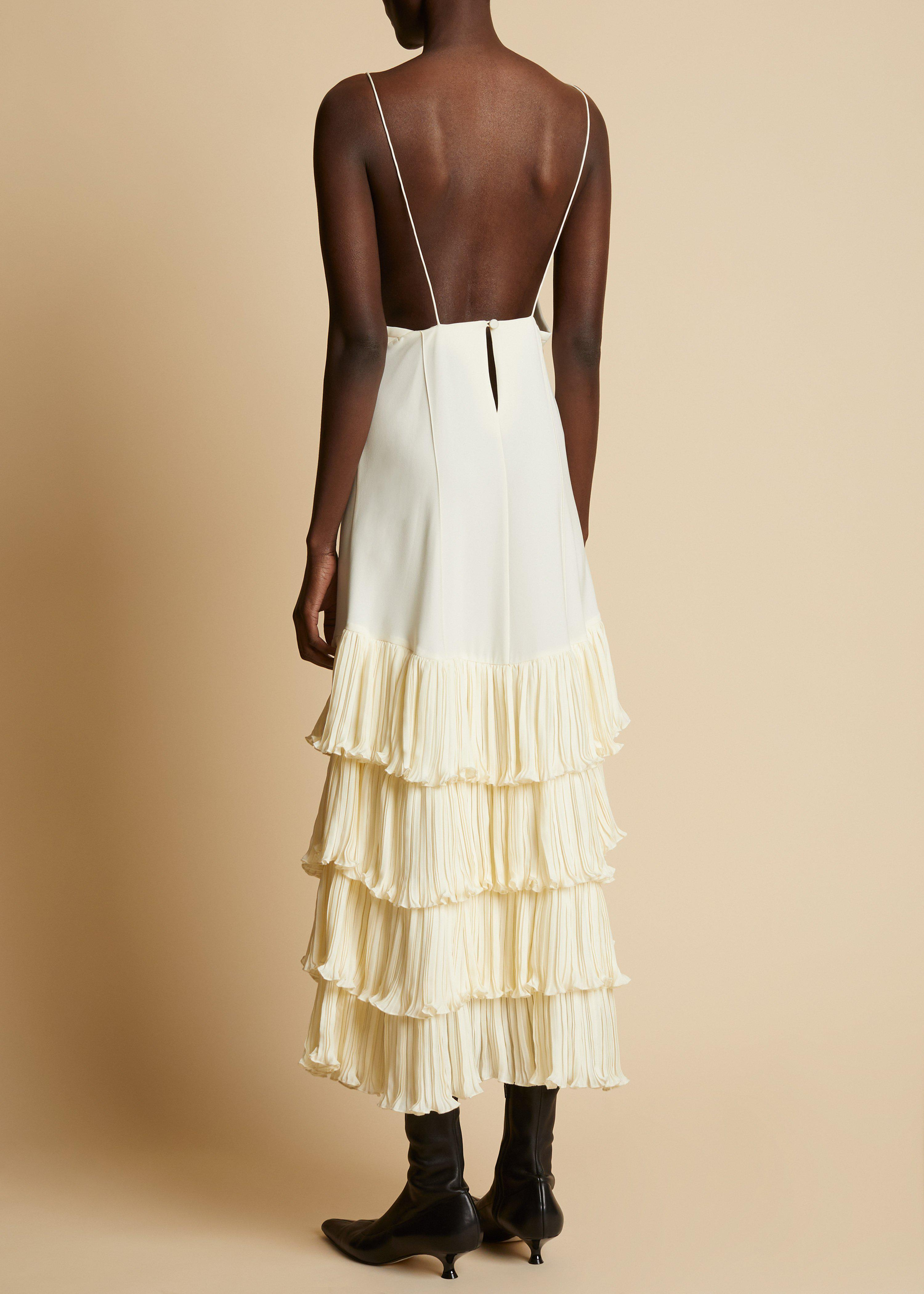 The Myrtle Dress in Ivory 2