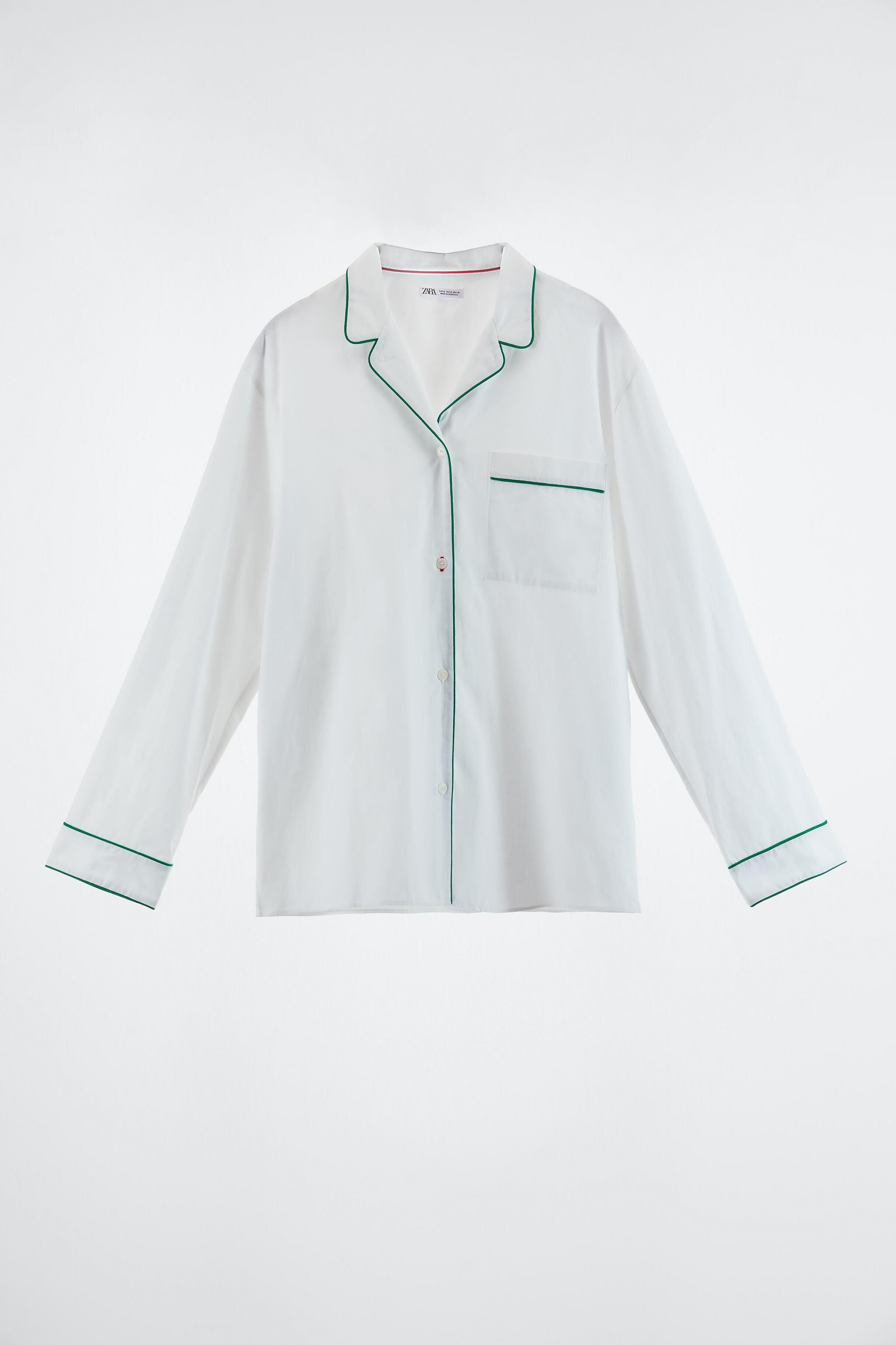 PIPED COTTON SHIRT 4