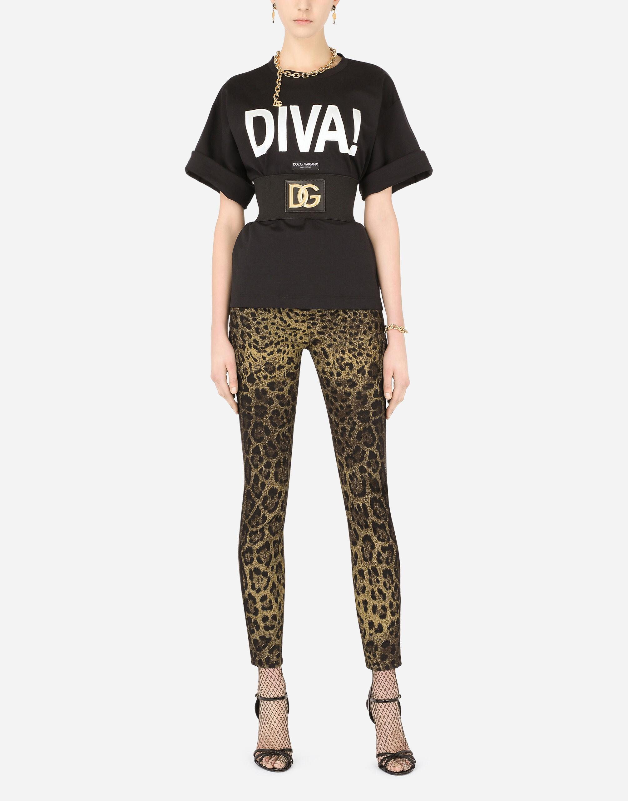 Jersey T-shirt with diva patch 4