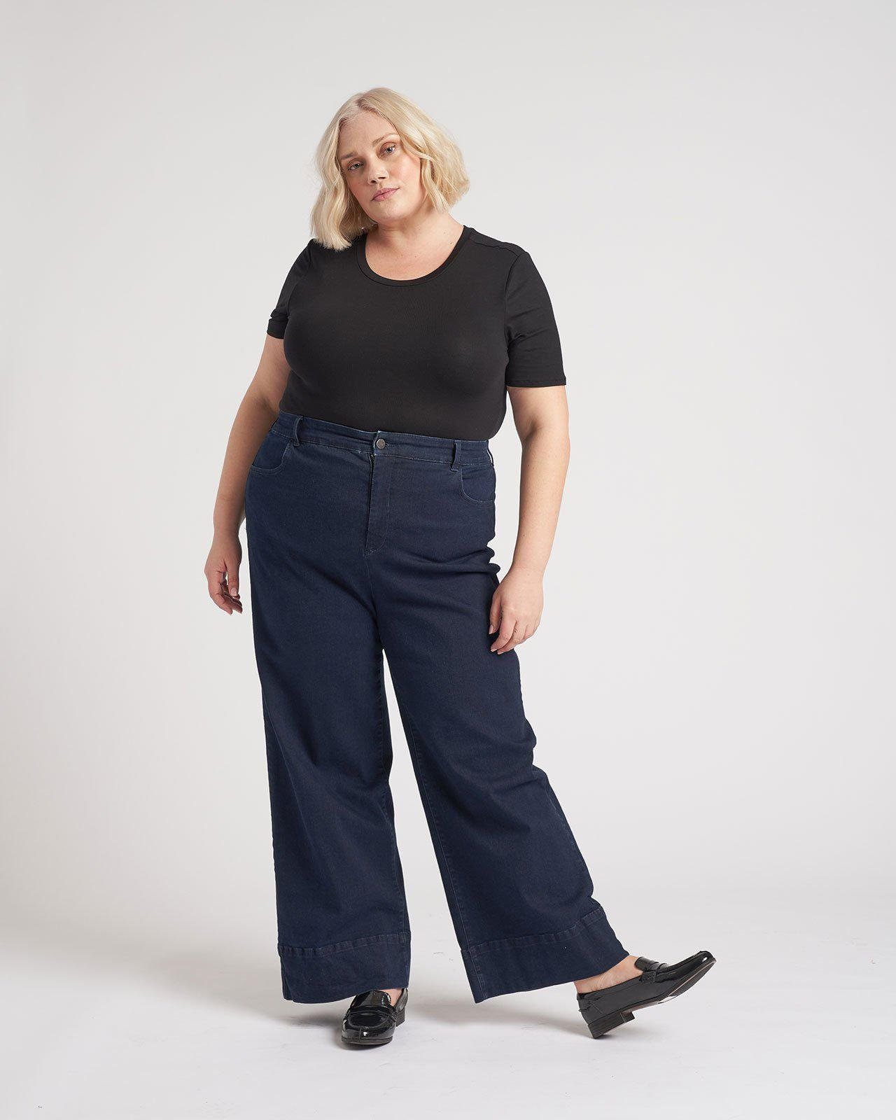 Carrie High Rise Wide Leg Jeans