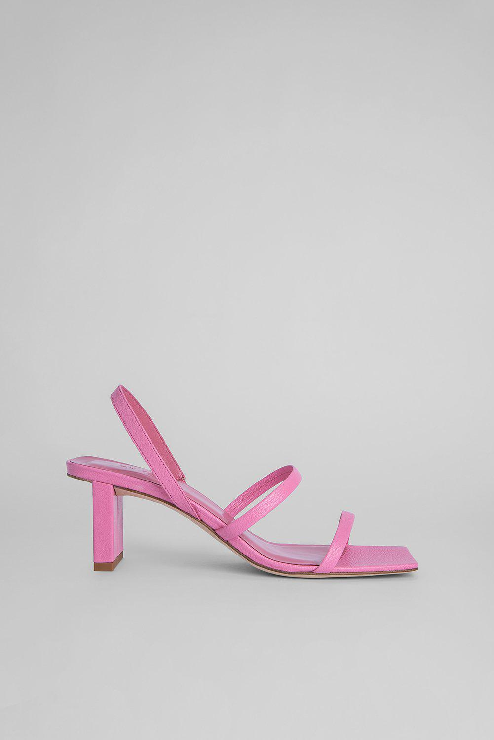 Liu Pastel Pink Grained Leather