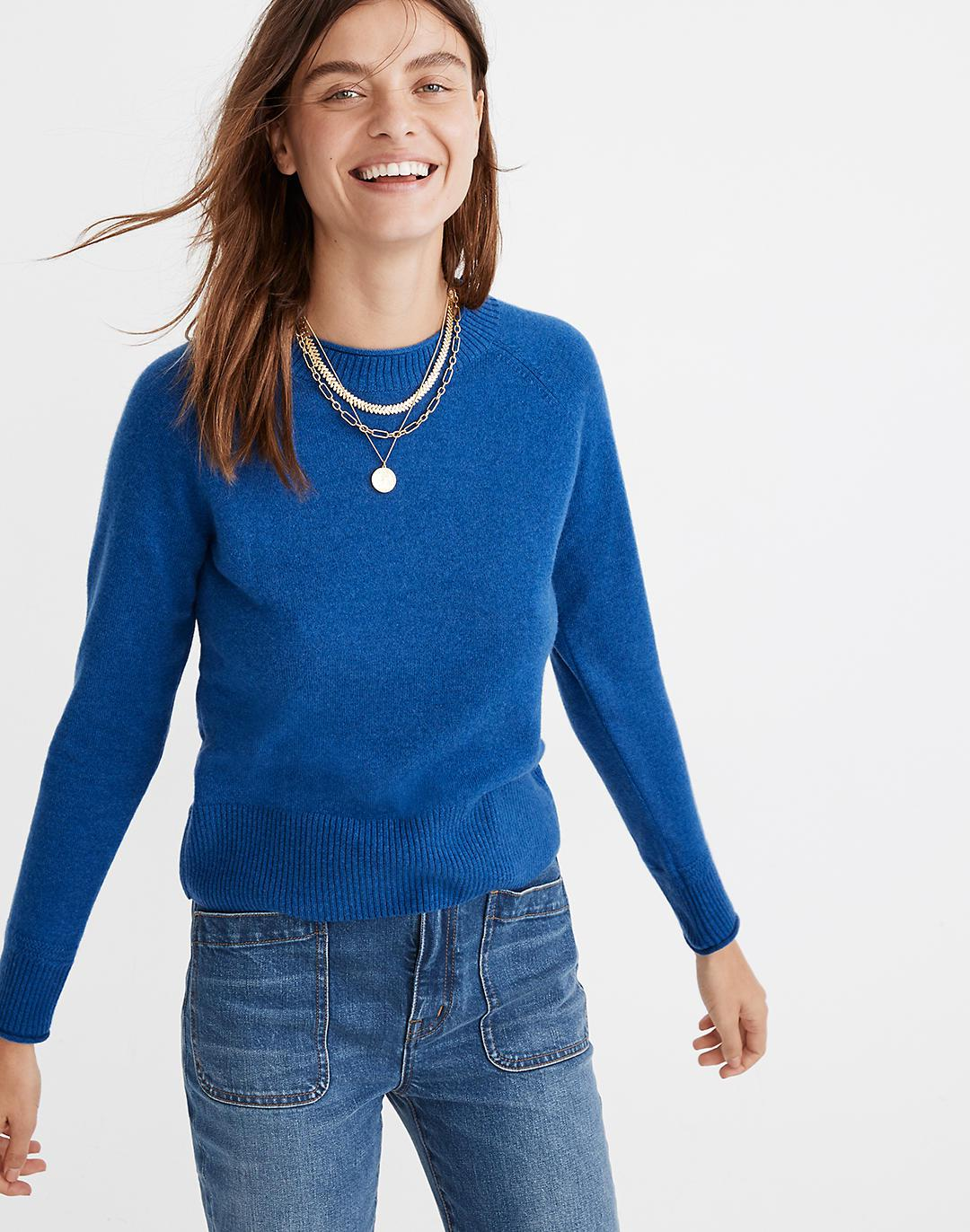 (Re)sponsible Cashmere Roll-Trim Pullover Sweater